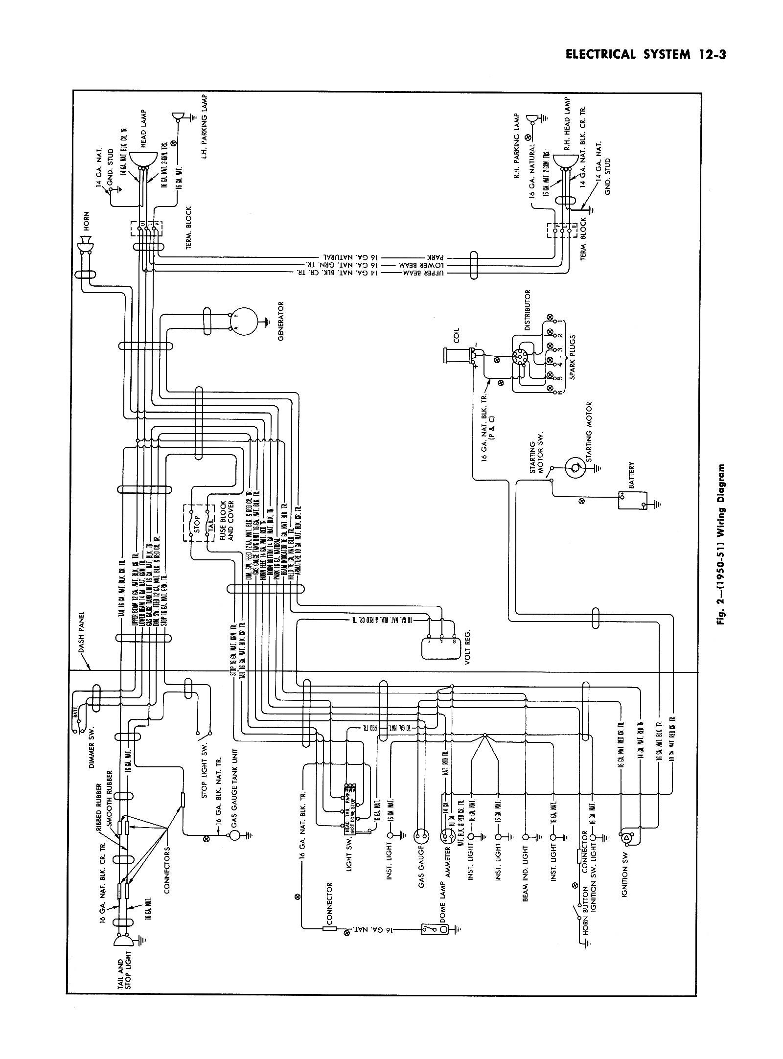 51 chevy bel air wiring diagram