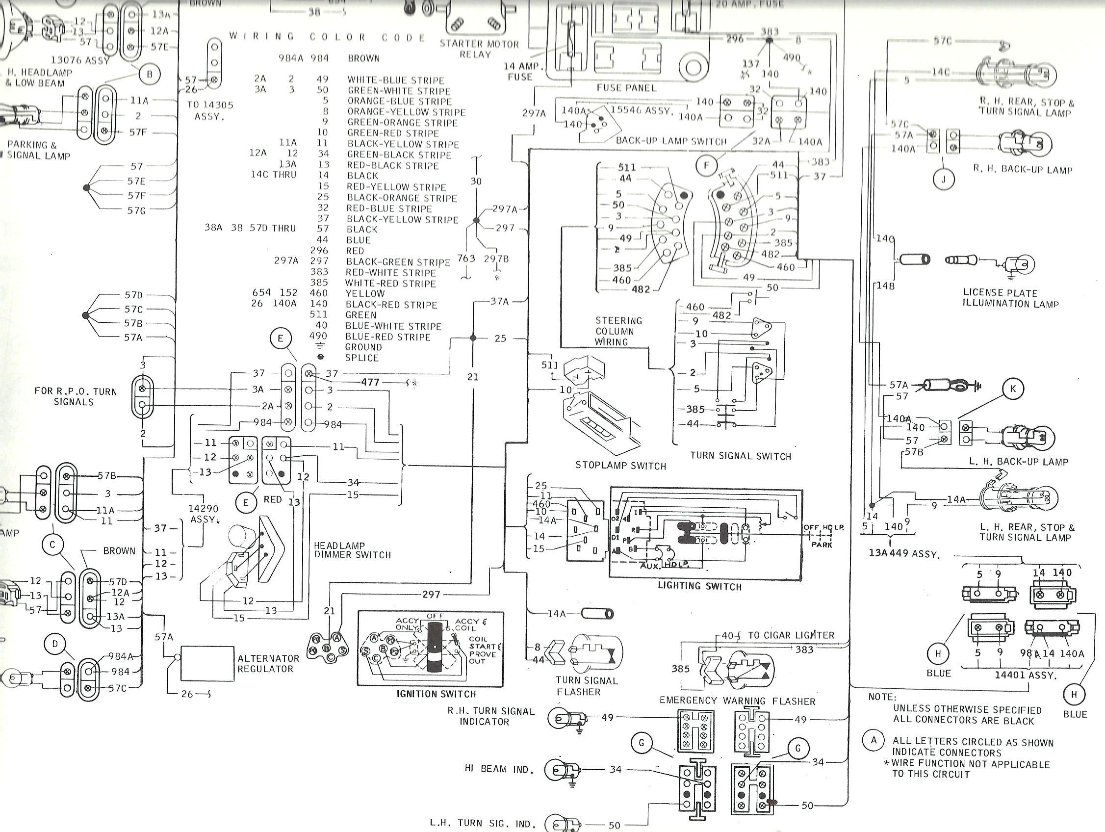 1967 camaro schema cablage free