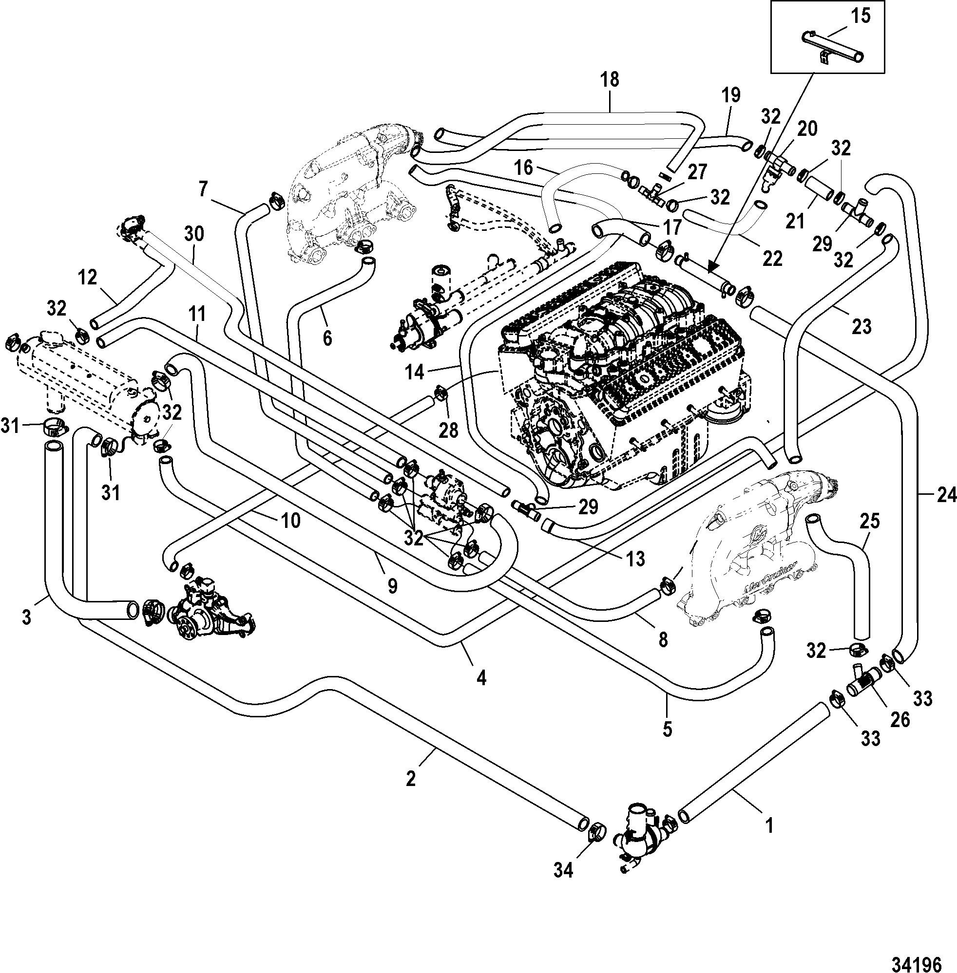 7 4 marine engine wiring harness