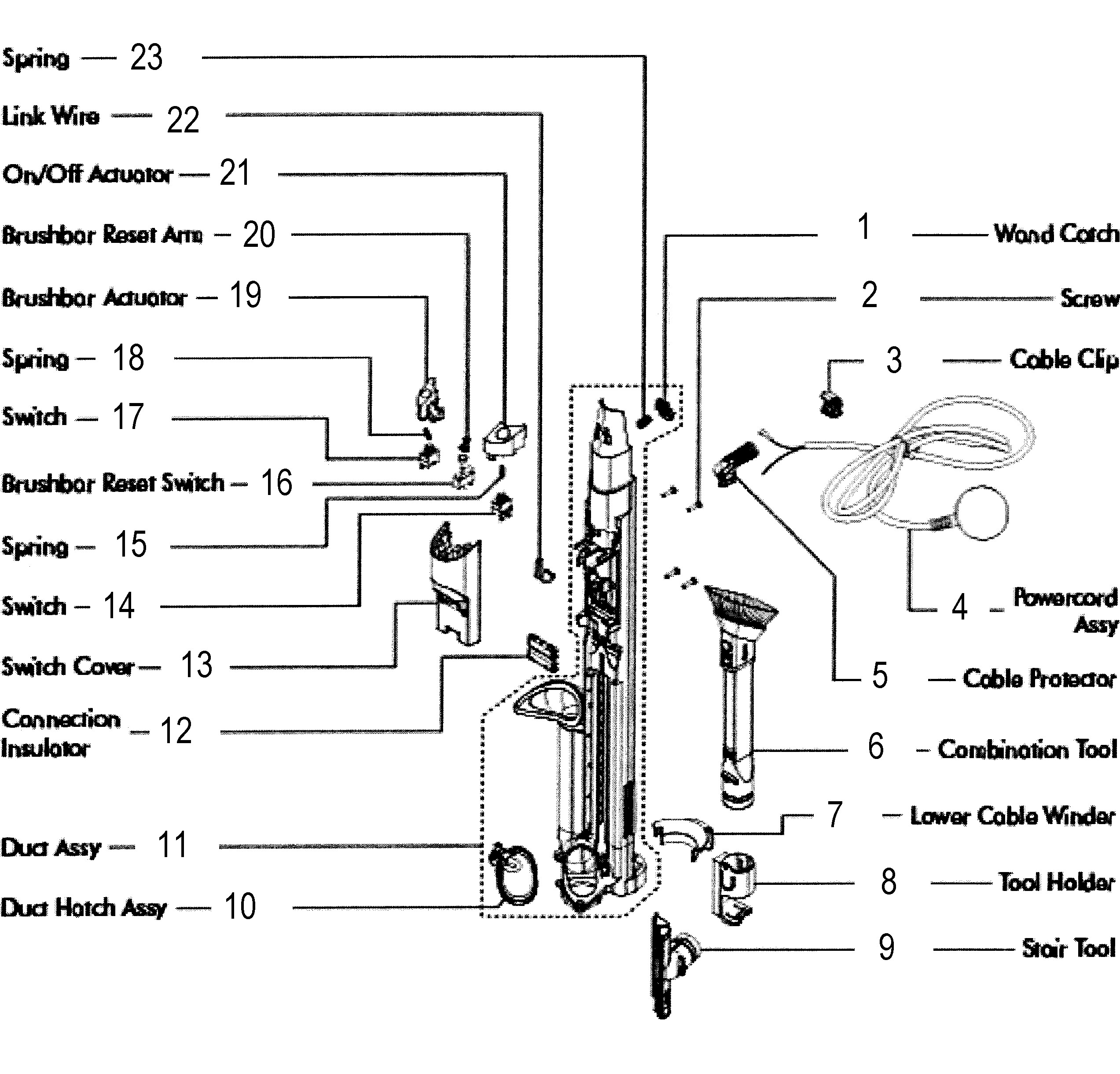 dyson vacuum cleaner wiring diagram