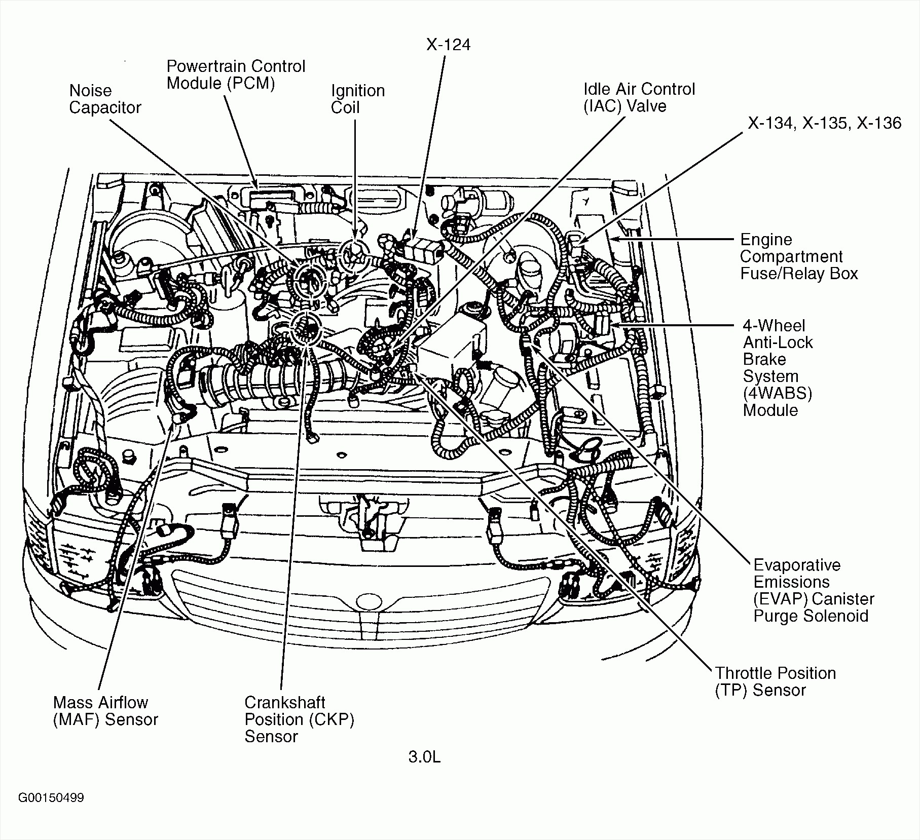 05 ford escape 3 0 Motor diagram