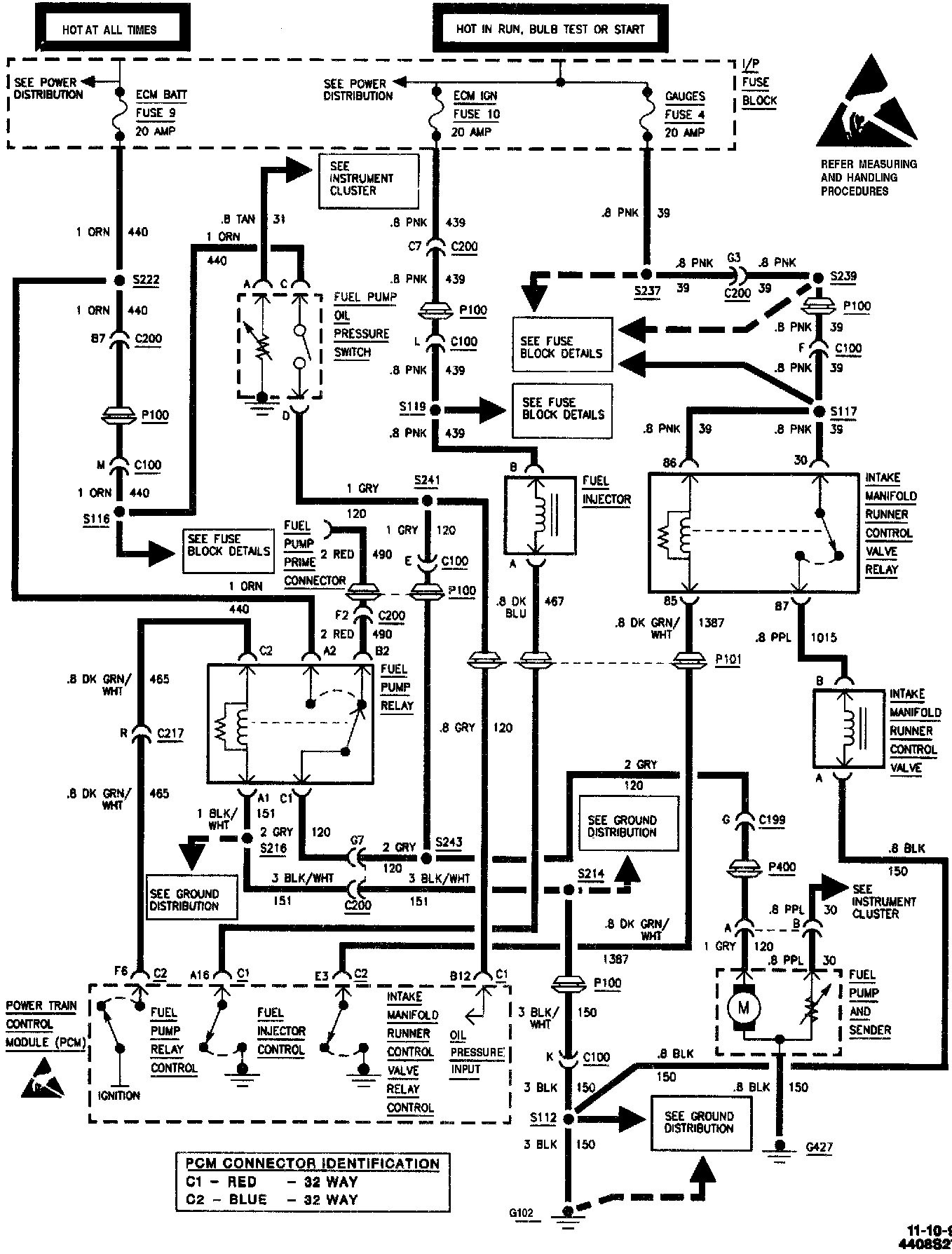 1991 chevy truck fuel pump wiring diagram