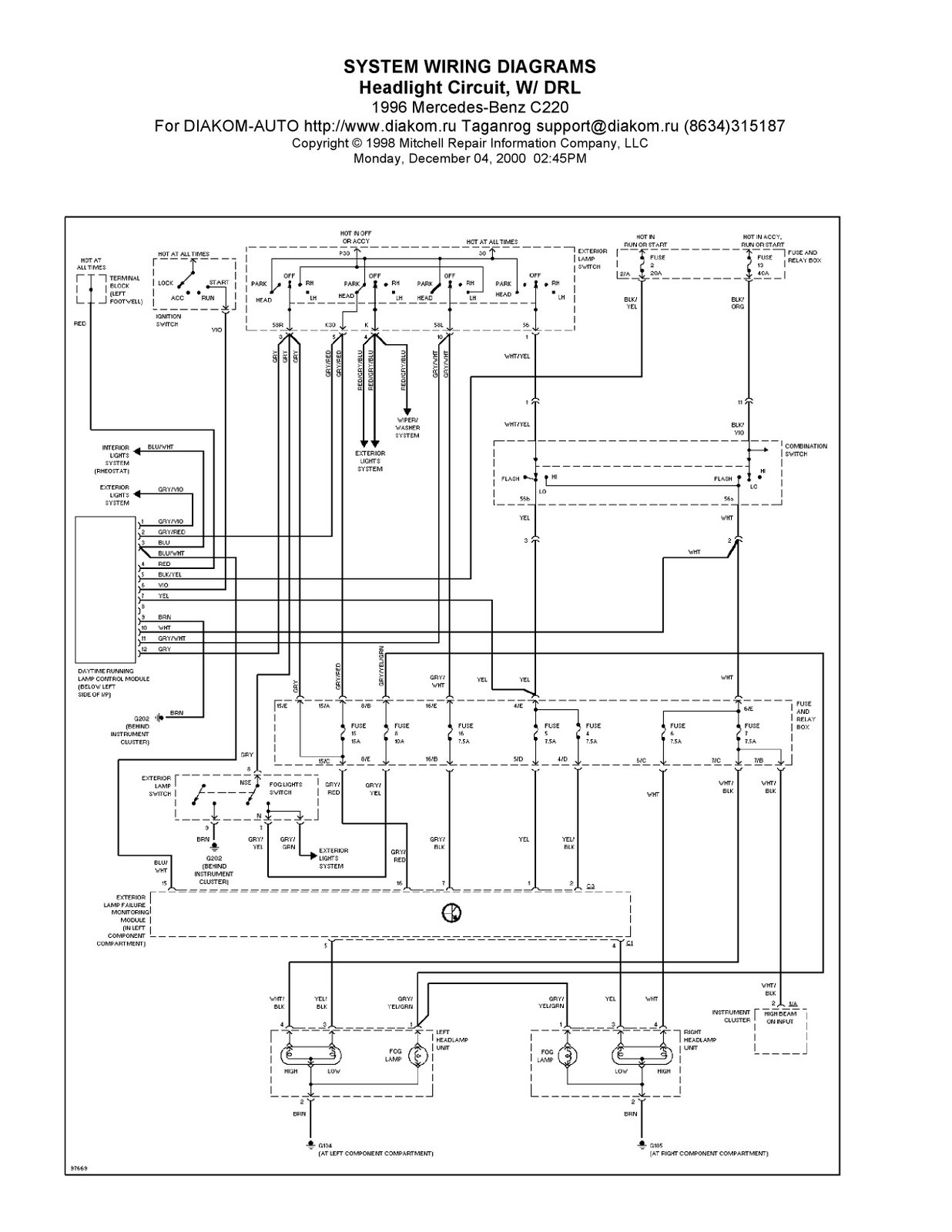 wiring diagram de motor mercedes benz
