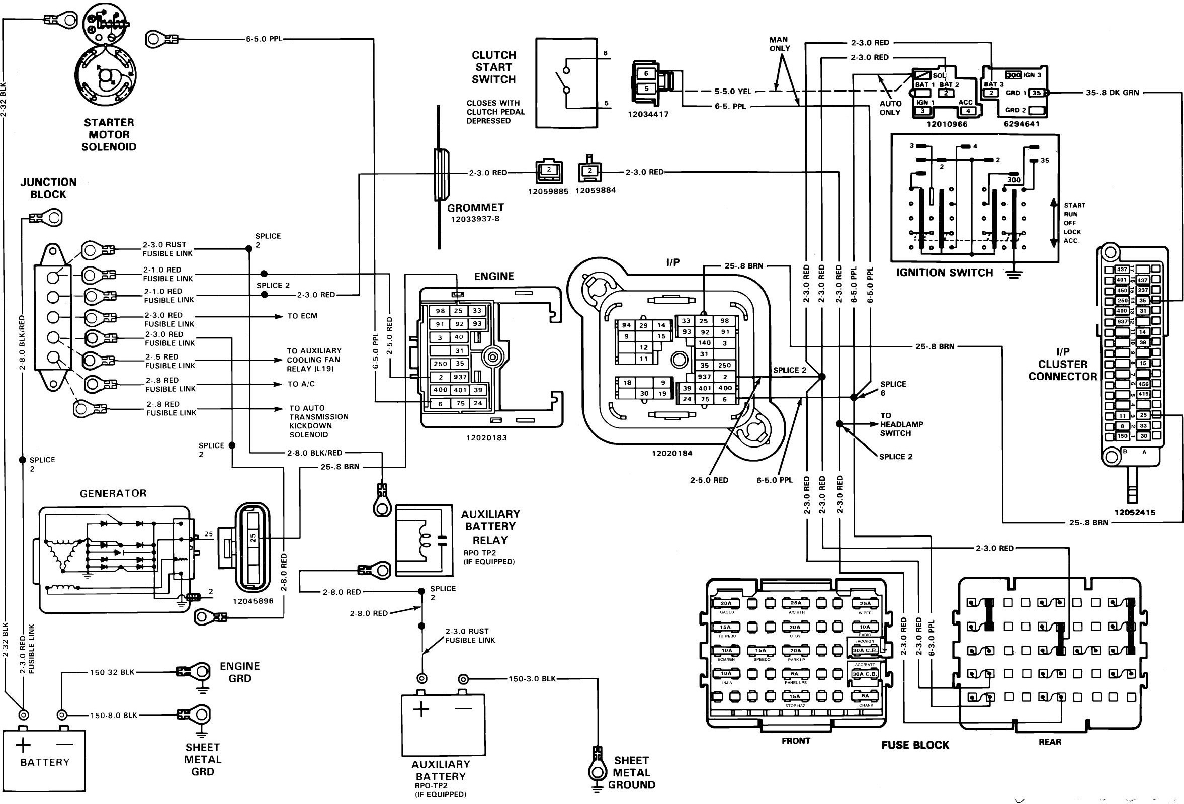 1981 chevy truck wire harness diagram