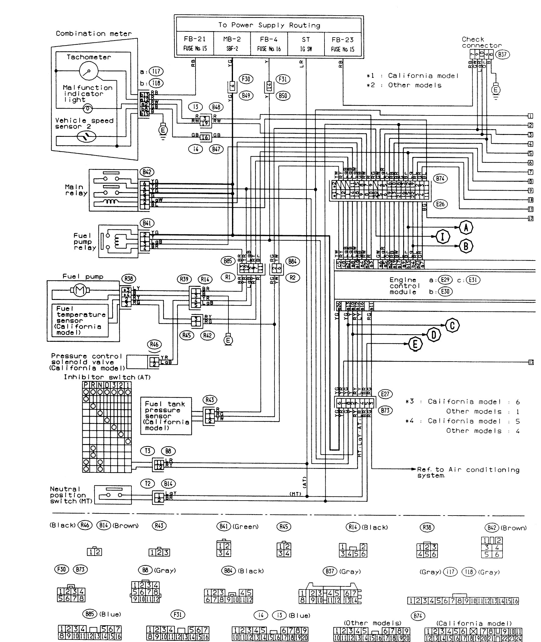 subaru forester window wiring diagram