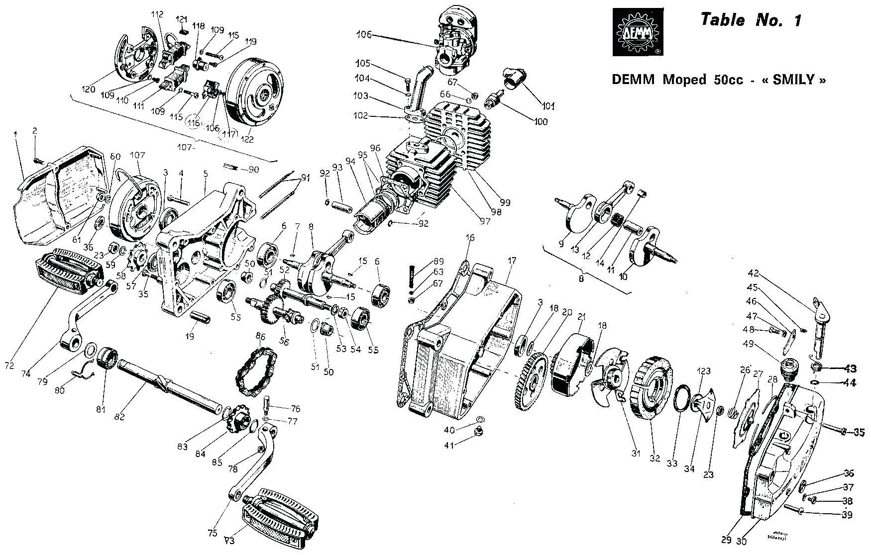 tomos Motor diagram
