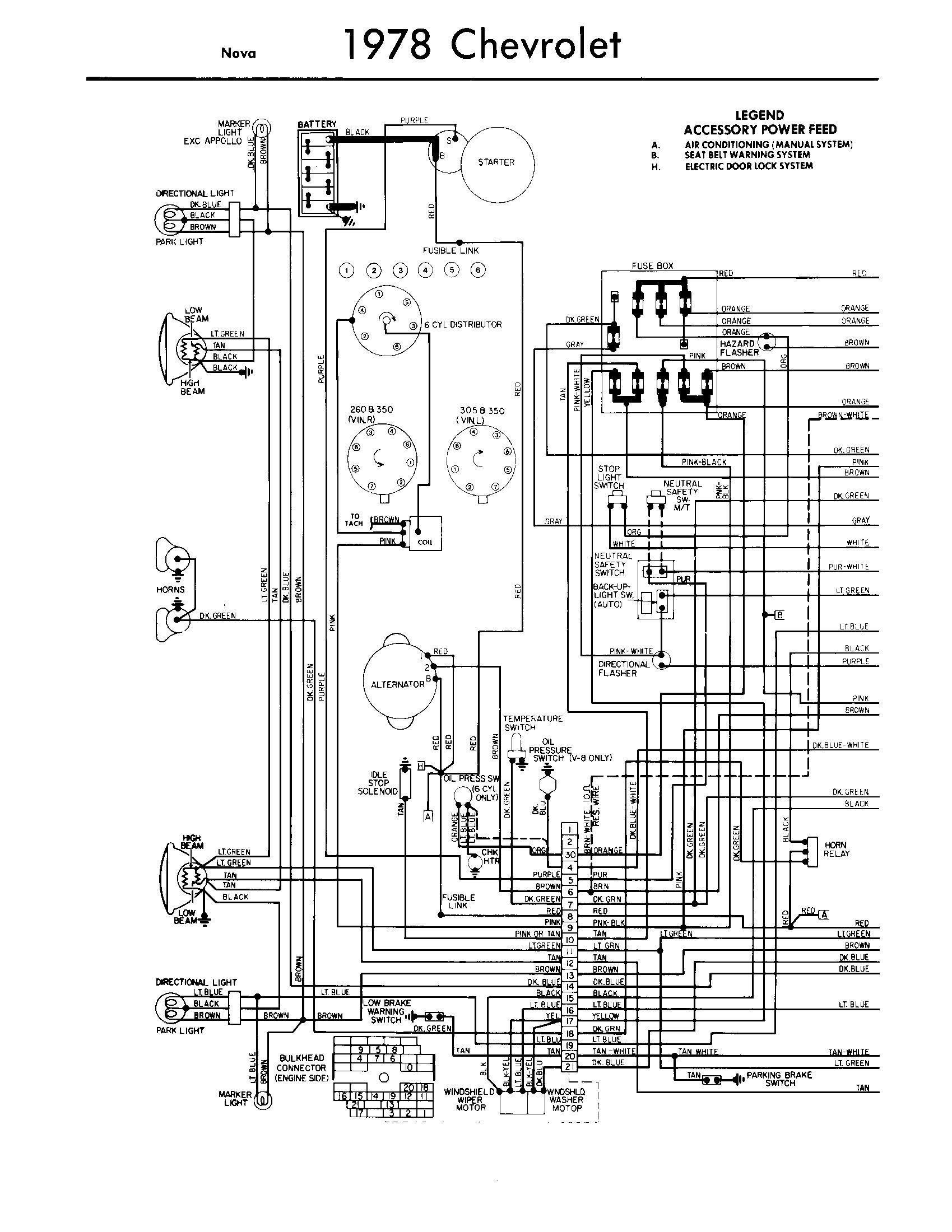 1977 chevy wiring light