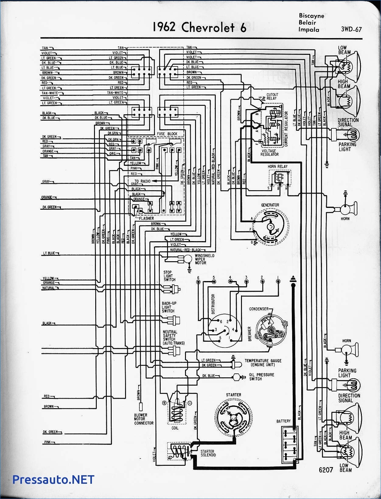 Wiring Diagram For 1967 Chevy Impala - Data Wiring Diagram on