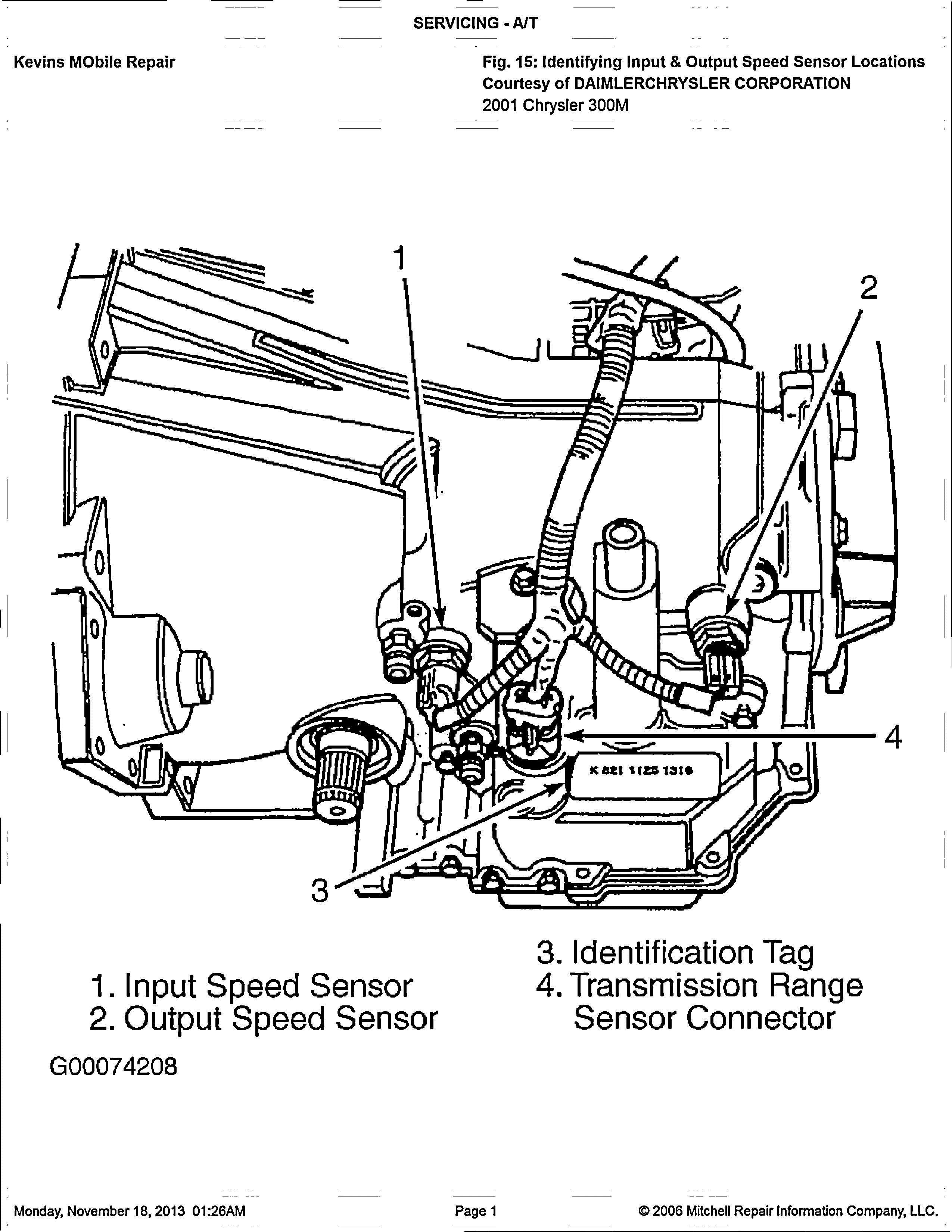 2007 chrysler 300 Schema moteur