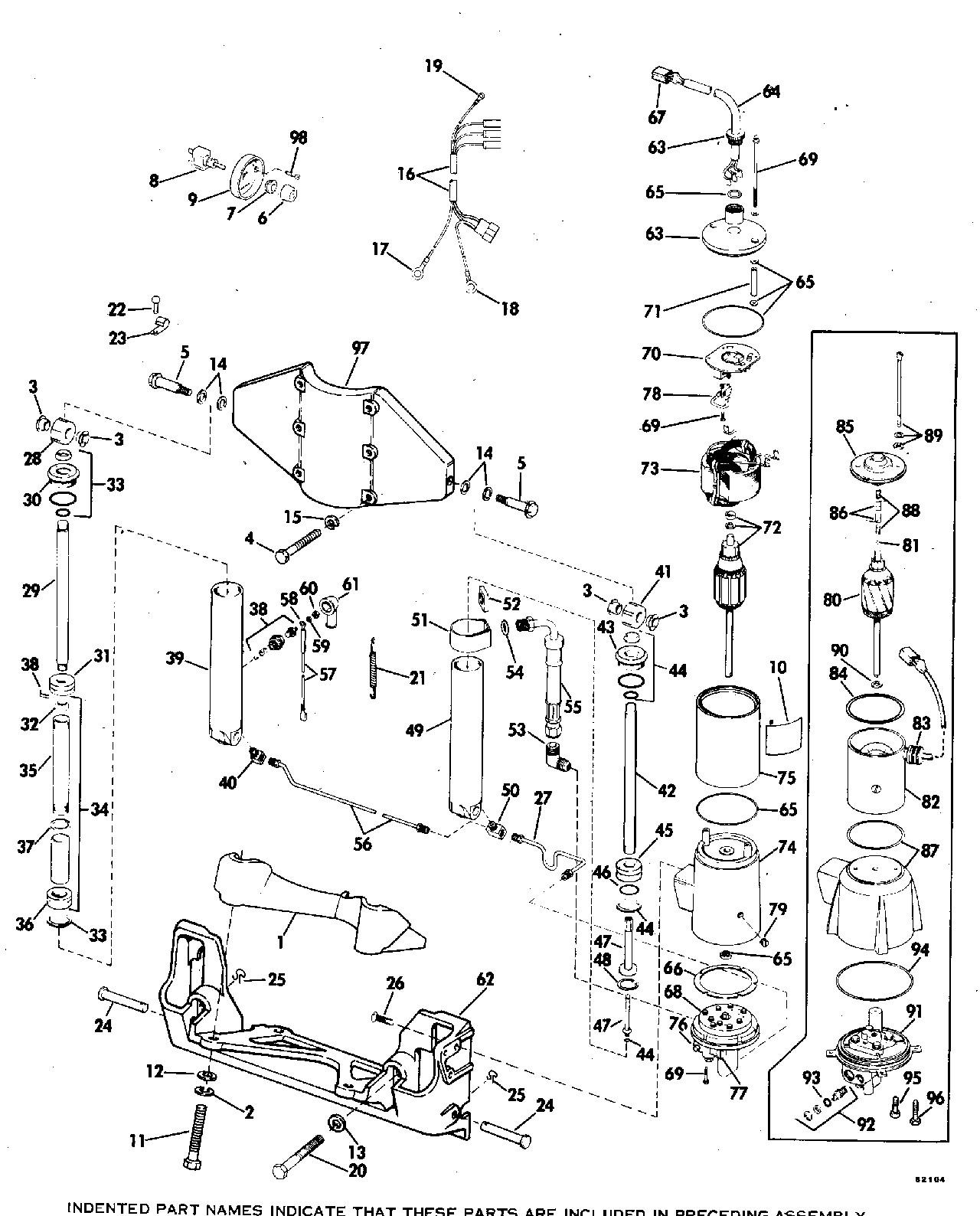 evinrude tilt and trim wiring diagram