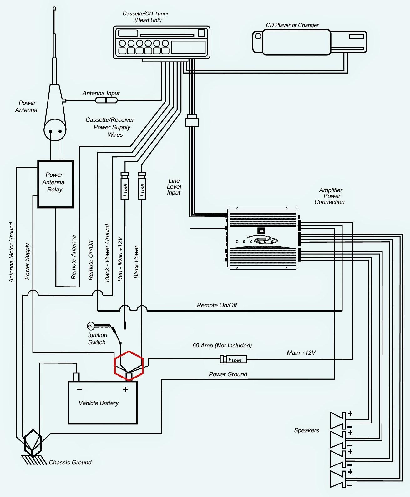 wiring color pioneer diagram x5500bh