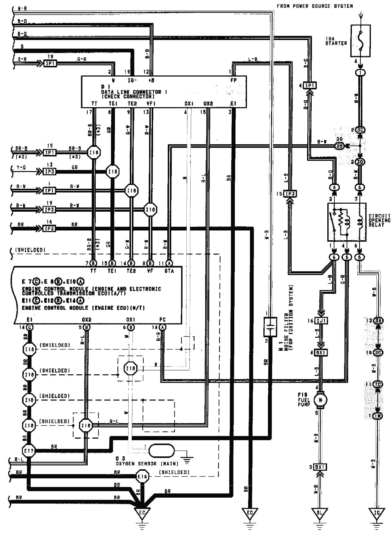 1990 camry radio wiring