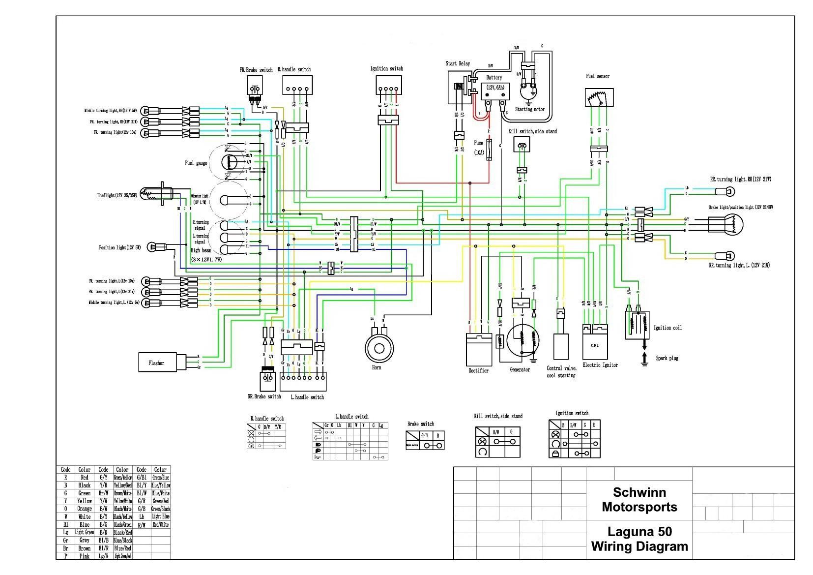 cc 50cc ledningsdiagram