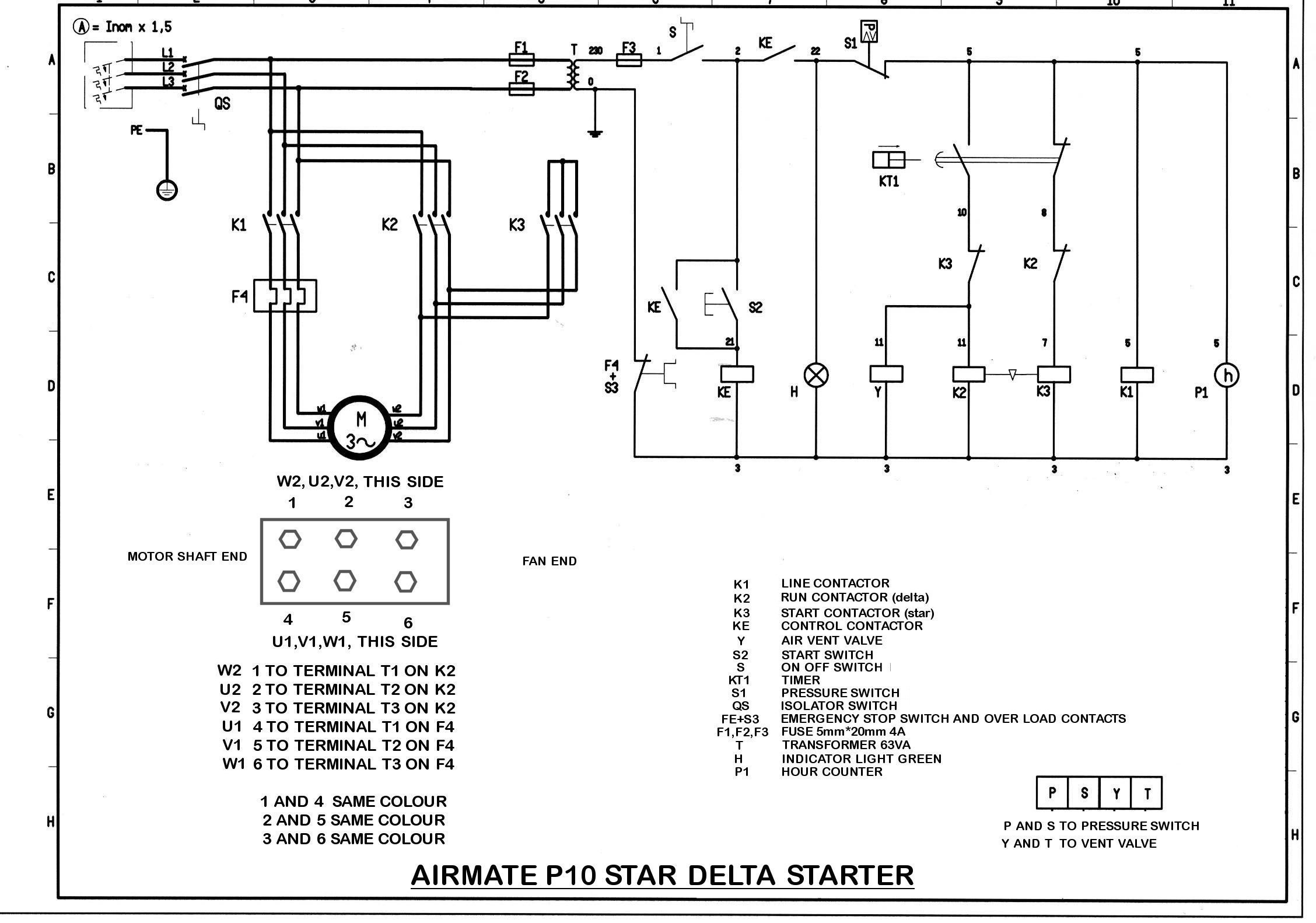 ingersoll rand air compressor circuit diagram