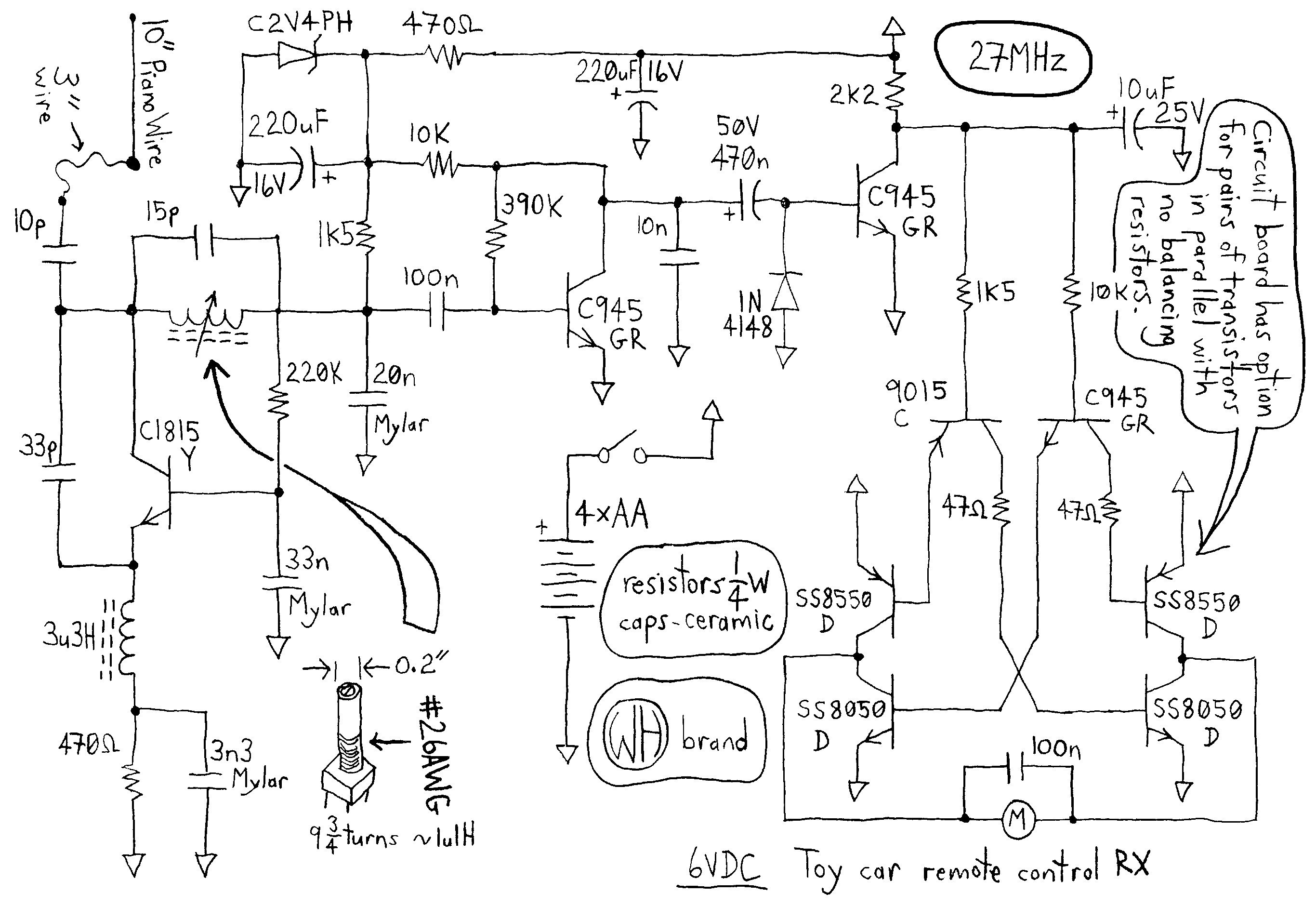 wiring diagram of a rc car wiring circuit diagrams