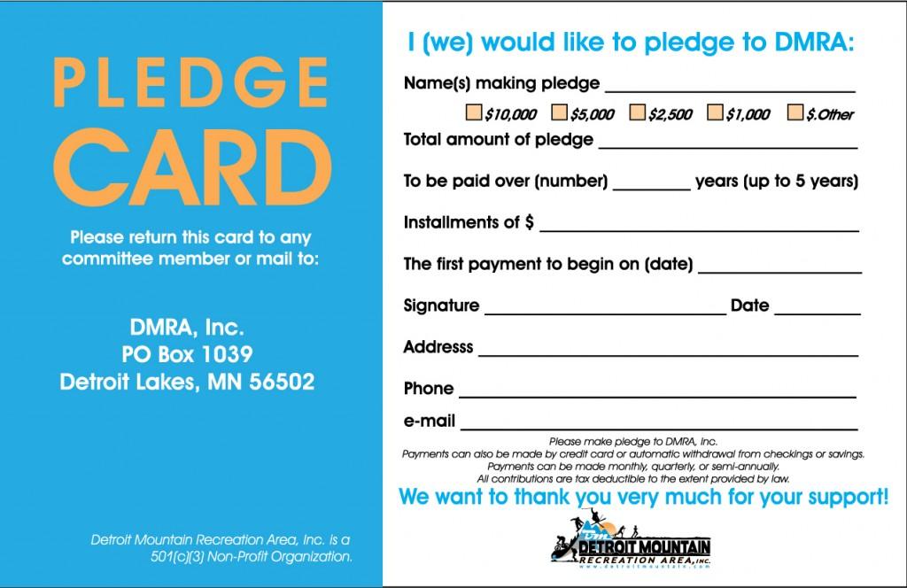 Sample Pledge Card Non Profit Geccetackletartsco - Pledge card template