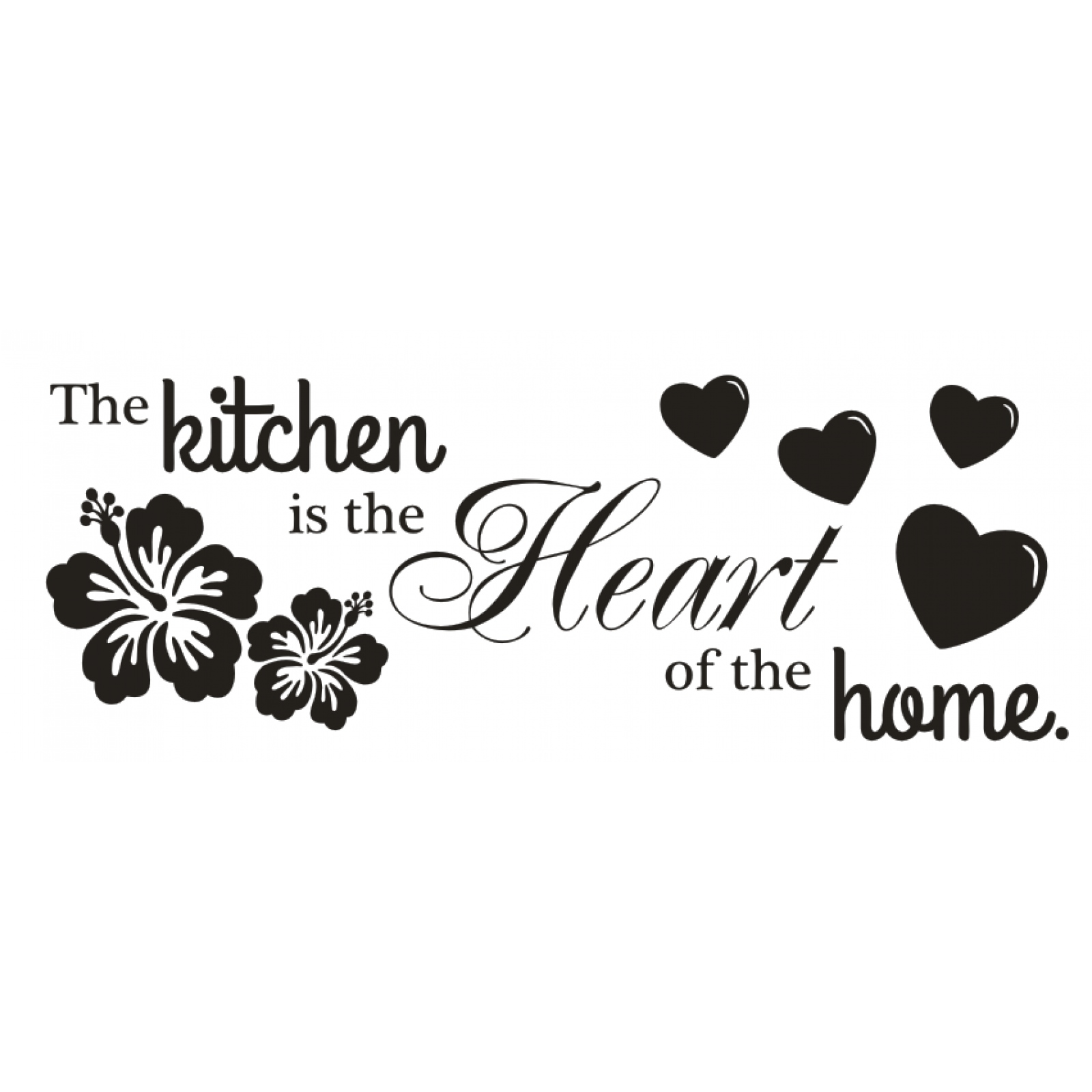 Wandtattoo Queen Wandtattoo Spruch The Kitchen Is The Heart Of The Home Wandsticker Aufkleber 4