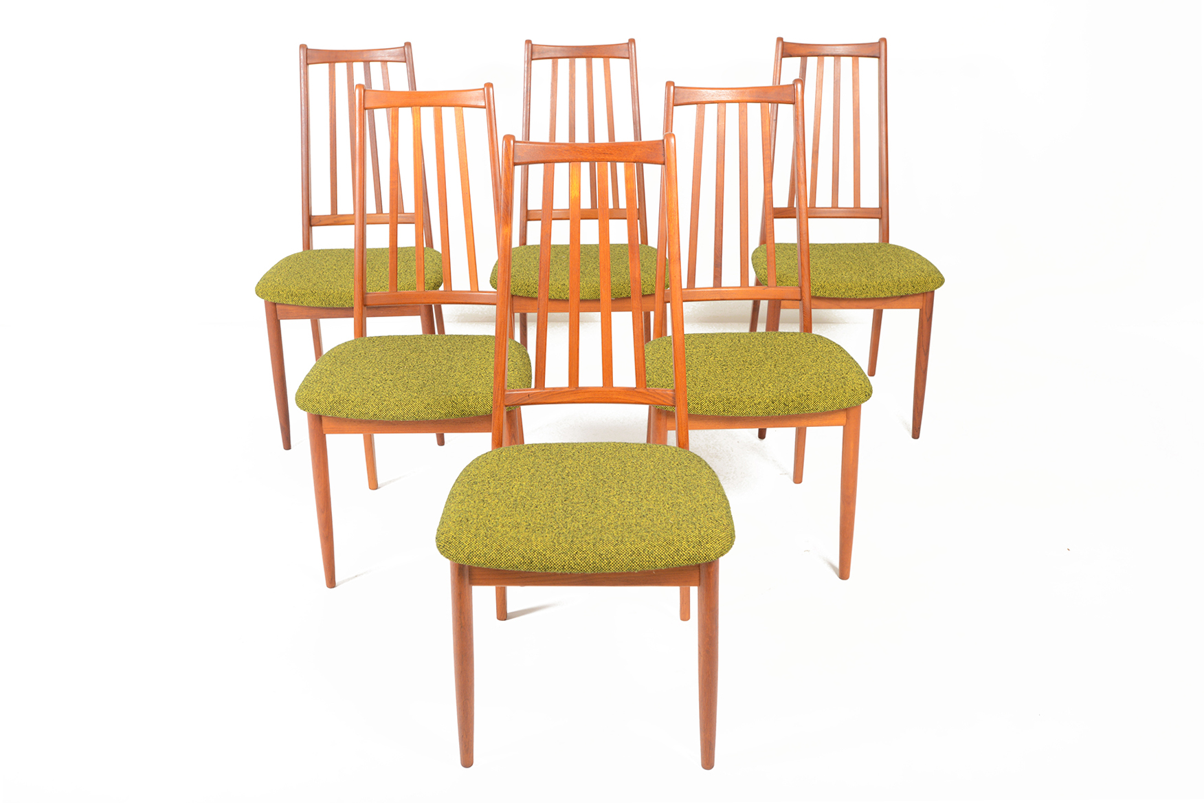 Danish Modern Dining Chairs For Sale Set Of Six Danish Modern Highback Teak Dining Chairs Mid Century