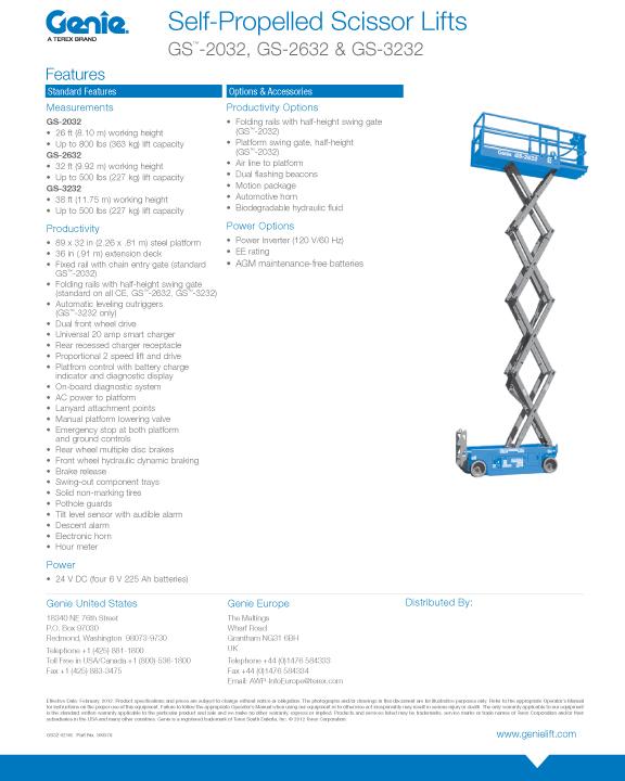 Rent Electric, 26\u0027 Scissor Lifts in CT Superior Rental