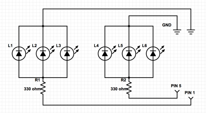 traffic light breadboard diagram