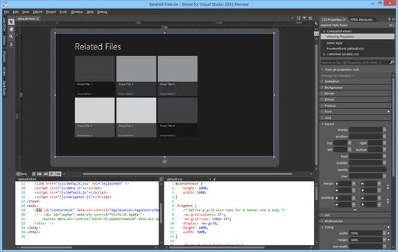 Overview of Related Files in Blend The Visual Studio Blog