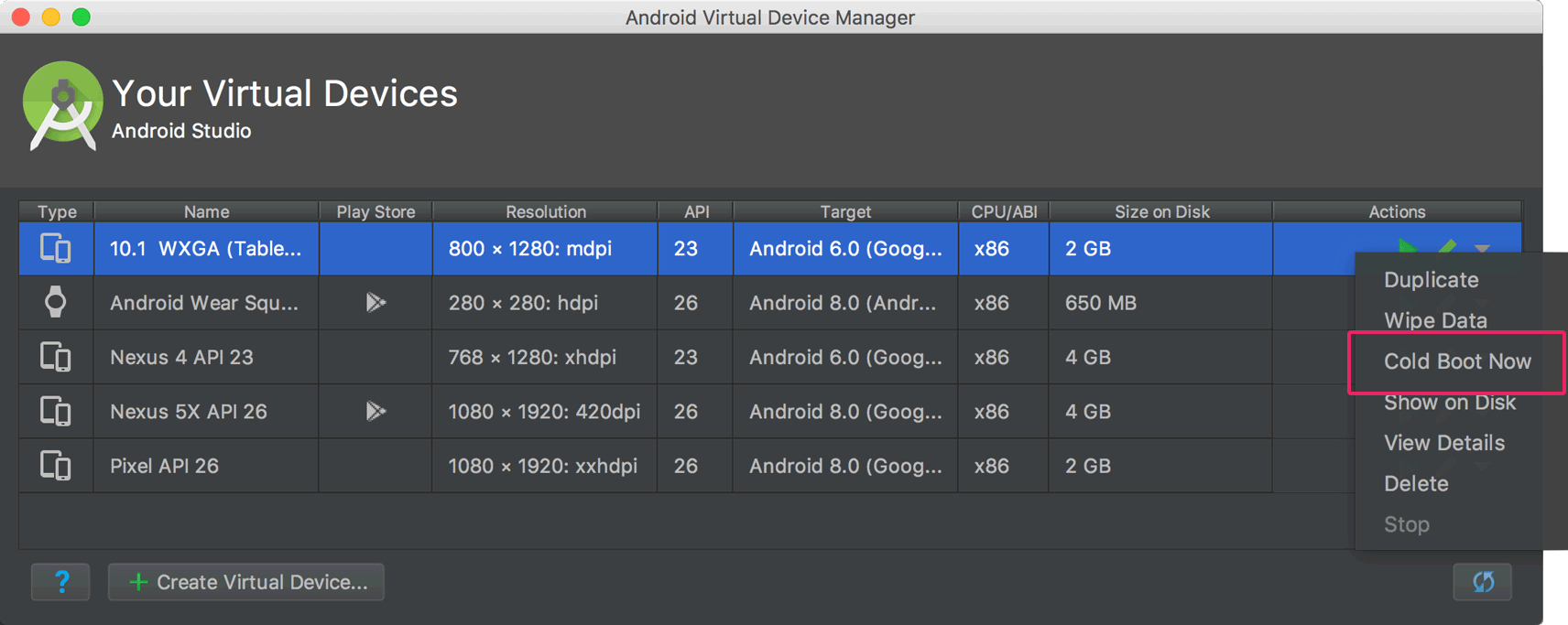 Run Apps On The Android Emulator Android Developers