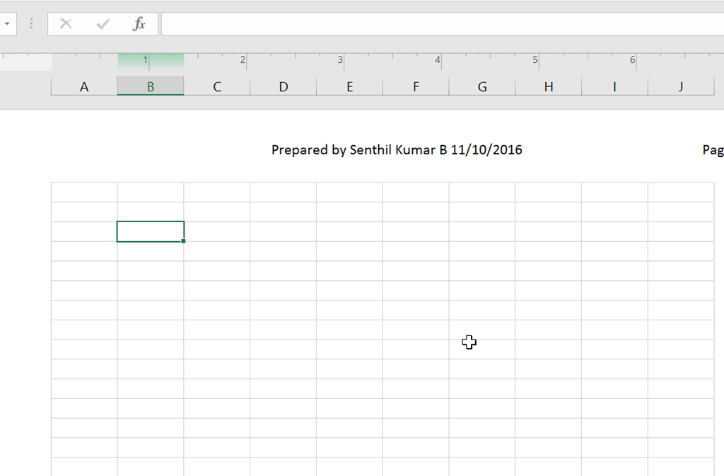 how to put a table in excel header