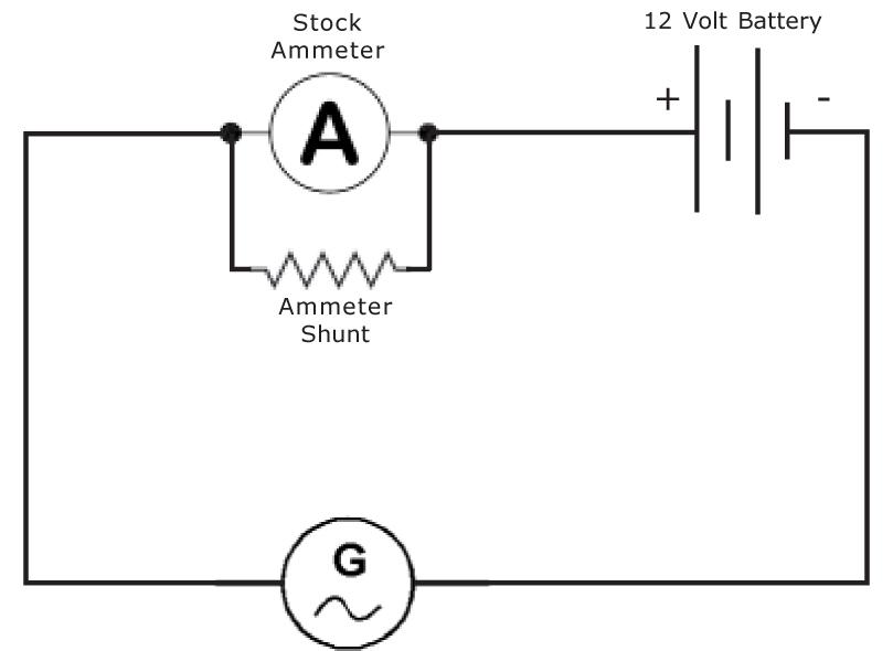 shunt ammeter schematic