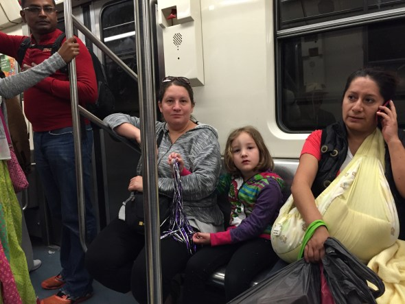 Viajando en el Metro