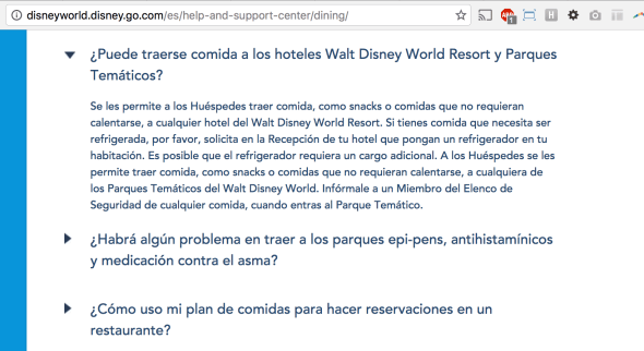 comidas y bebidas disney world