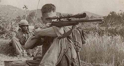 Scout Sniper Story of a Marine and his Rifle Marine T-Shirts for Men