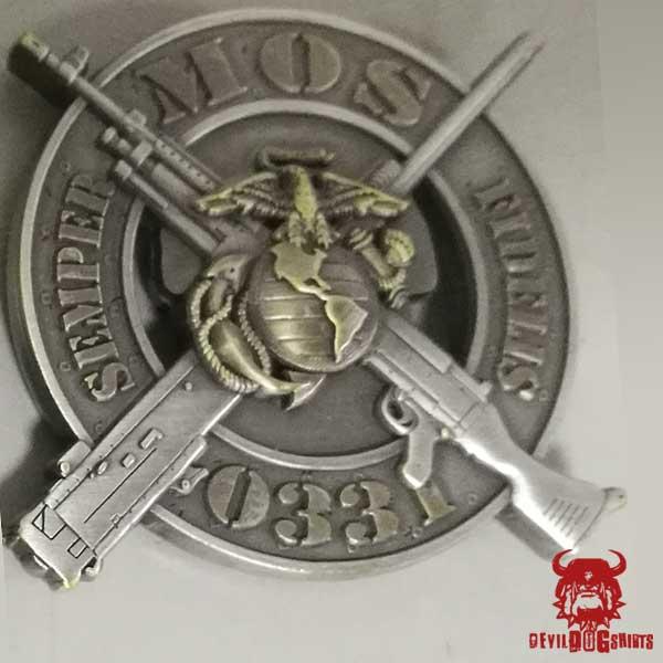 USMC 0331 Machine Gunner MOS Coin USMC Challenge Coins