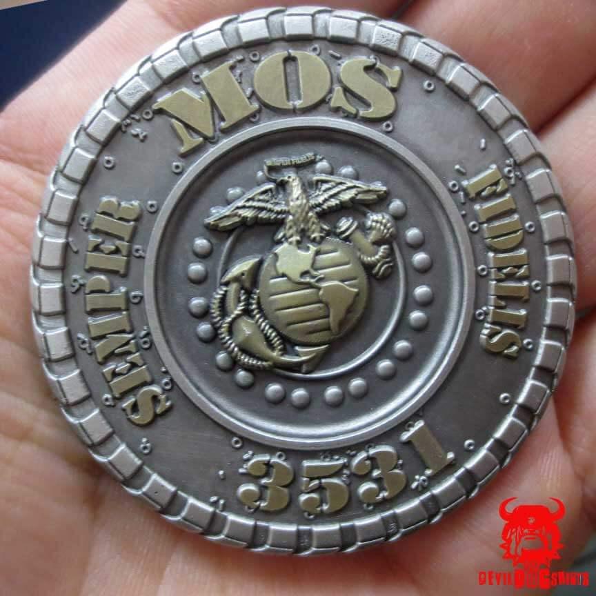 USMC 3531 Motor Transport Operator MOS Coin