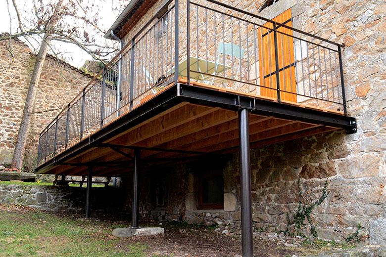 Terrasse sur pilotis  prix moyen au m2 d\u0027une terrasse surélevée - Terrasse Bois Pilotis Prix