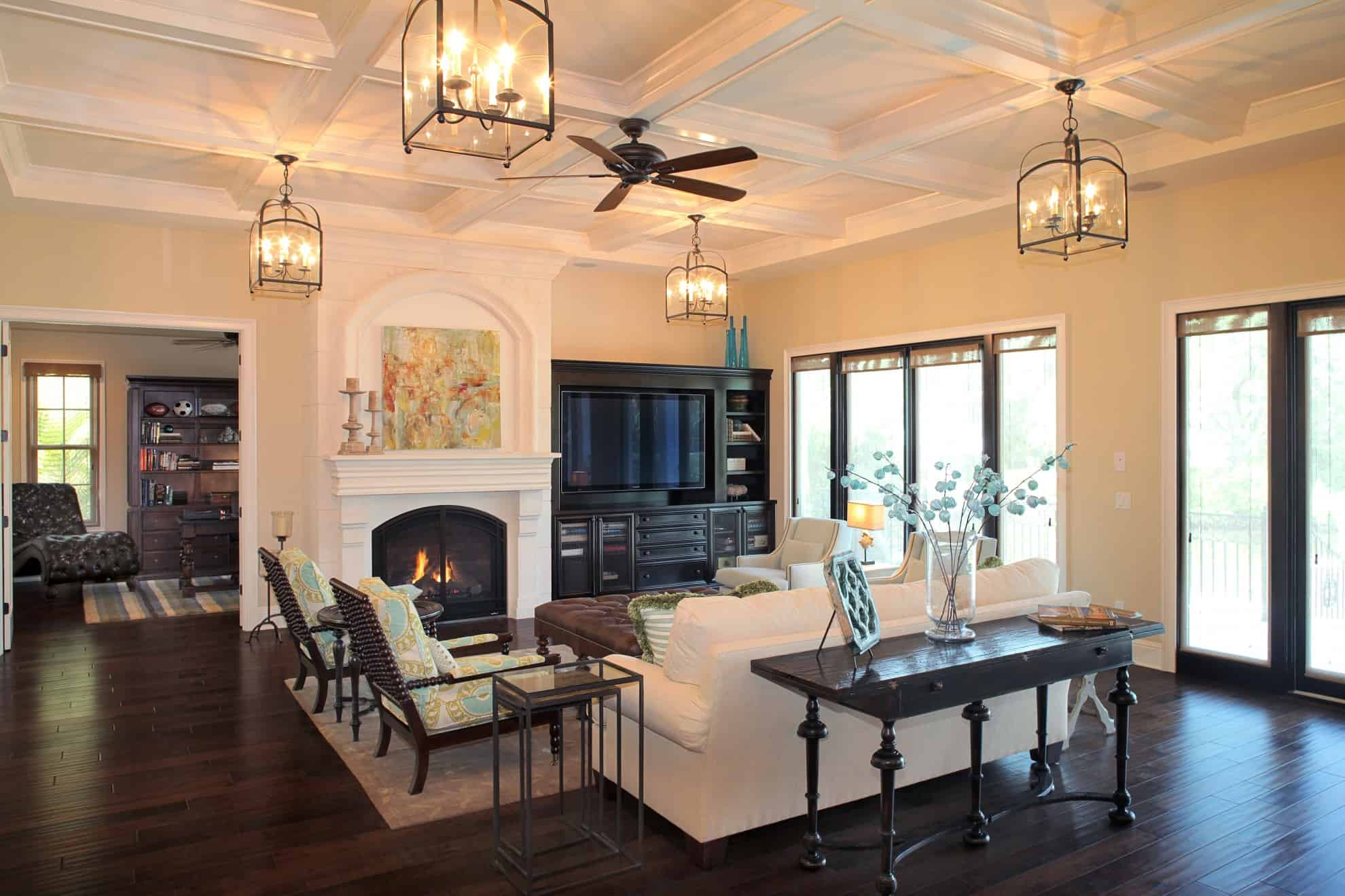 Ceiling Fan For Great Room Great Rooms And Fireplaces Luxury Estates Devonshire