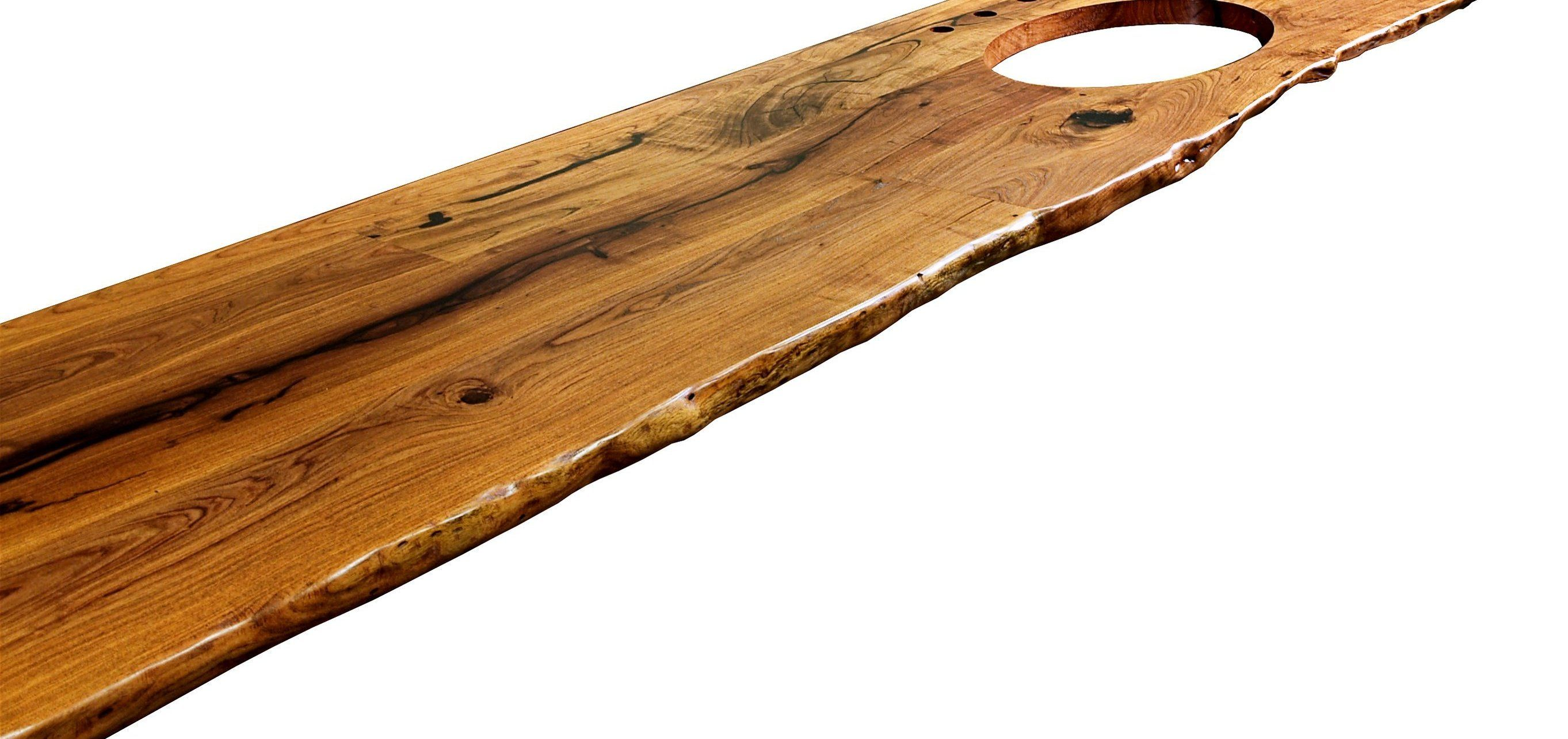 Wood Countertop Edging Natural Edges Wane Edges On Custom Wood Countertops And