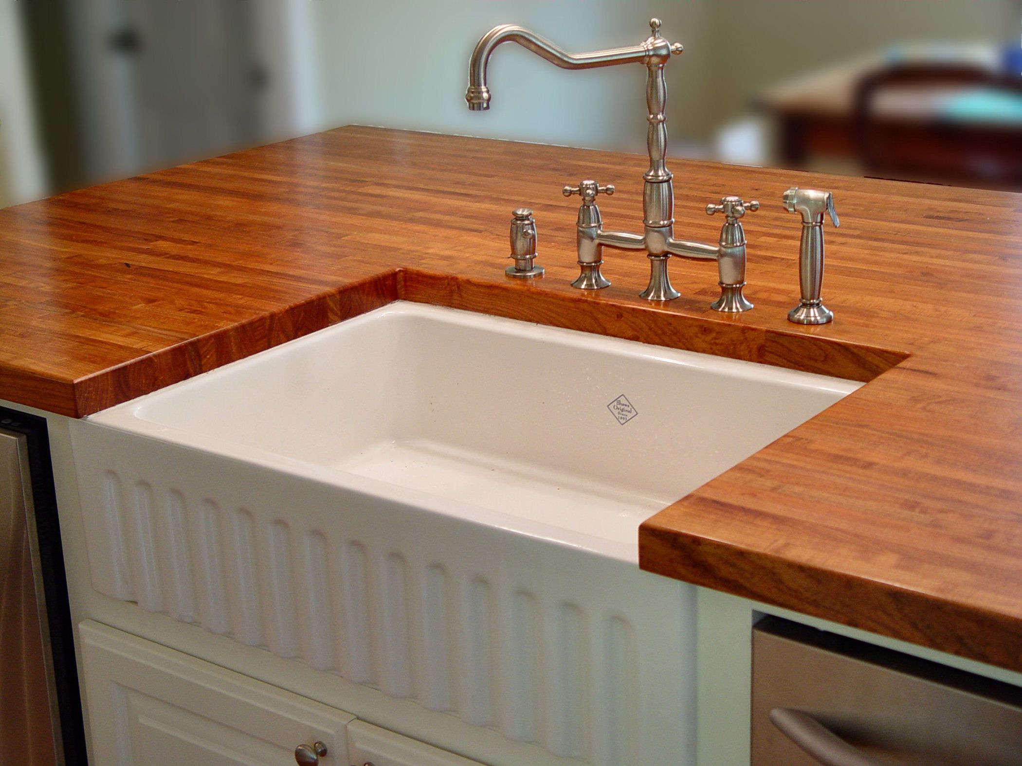 How To Cut A Hole In Granite Countertop Sink Cutouts In Custom Wood Countertops