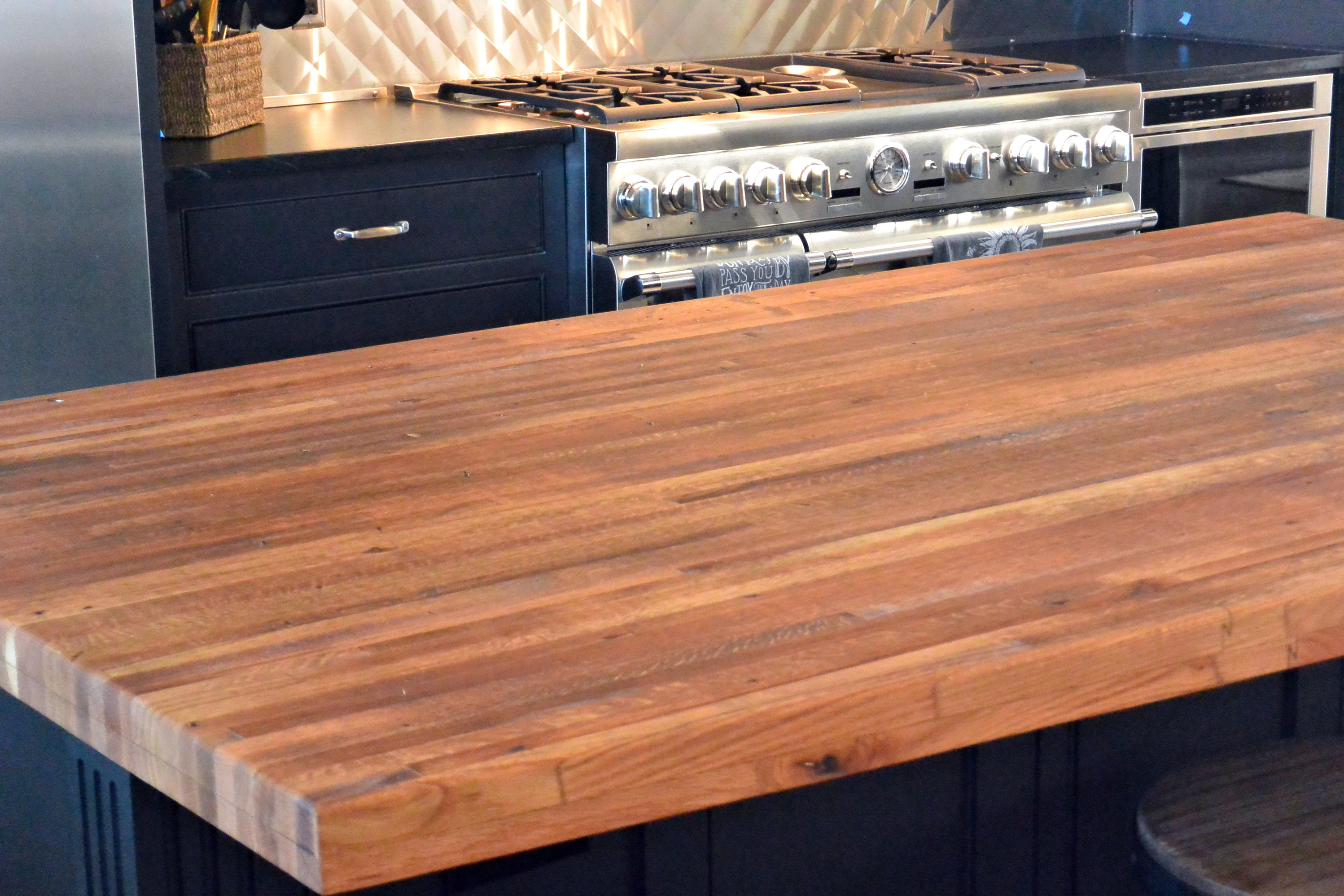 Tung Oil For Butcher Block Countertops Reclaimed Boxcar Flooring Wood Countertop Photo Gallery