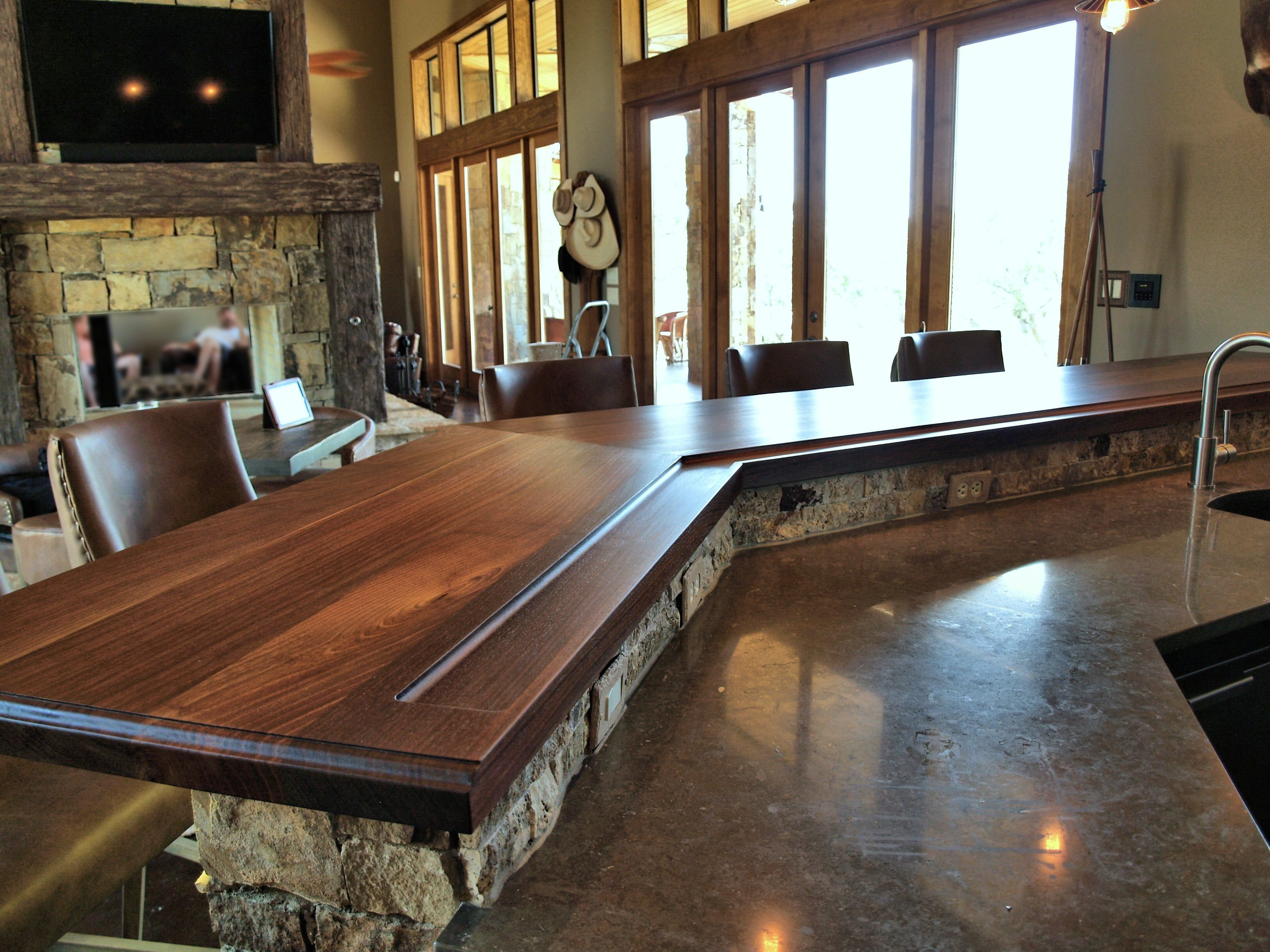 Countertops For Bars Slab Walnut Wood Countertop Photo Gallery By Devos Custom Woodworking