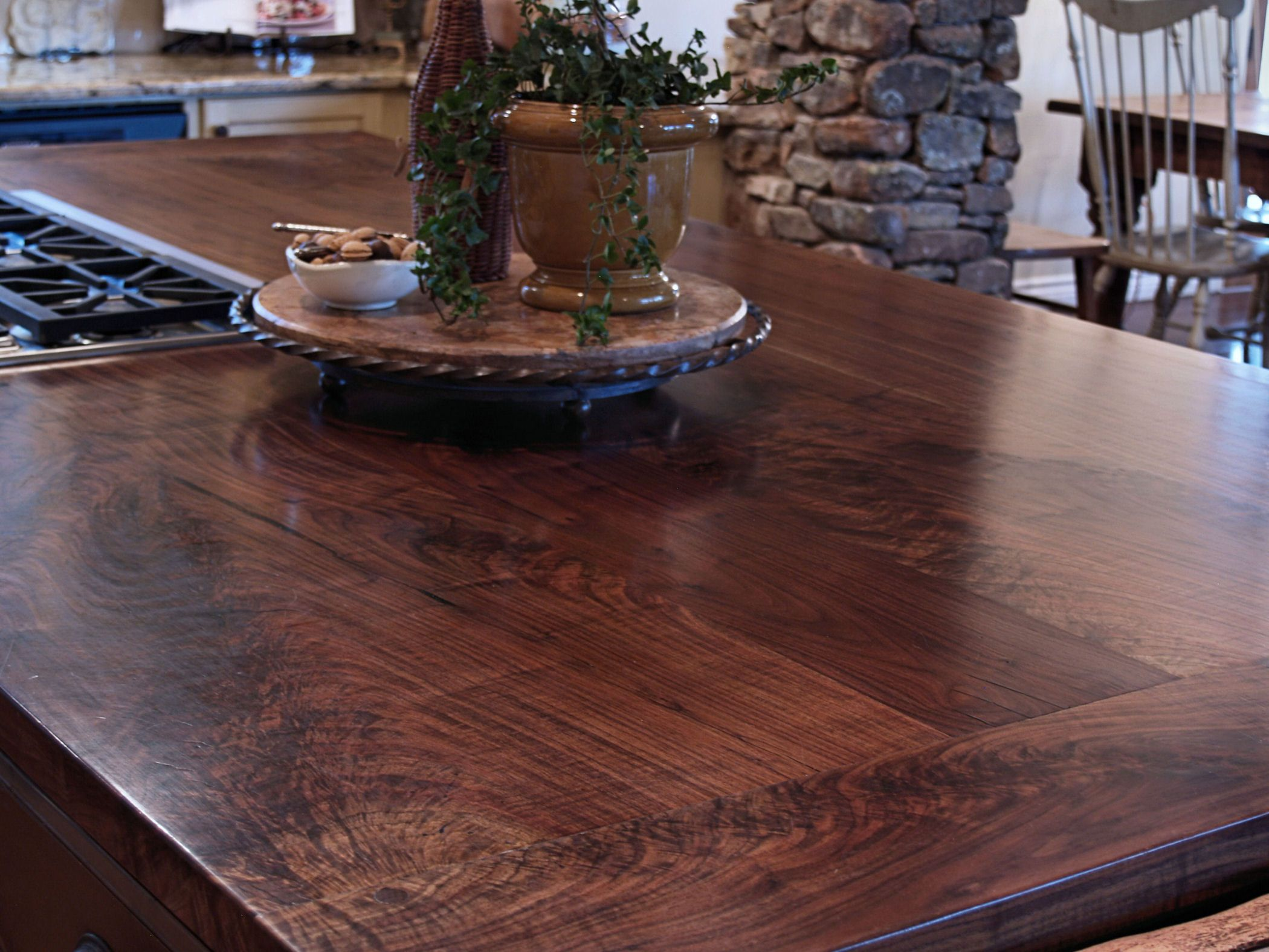 Waterproof Wood Countertop Slab Walnut Wood Countertop Photo Gallery By Devos Custom