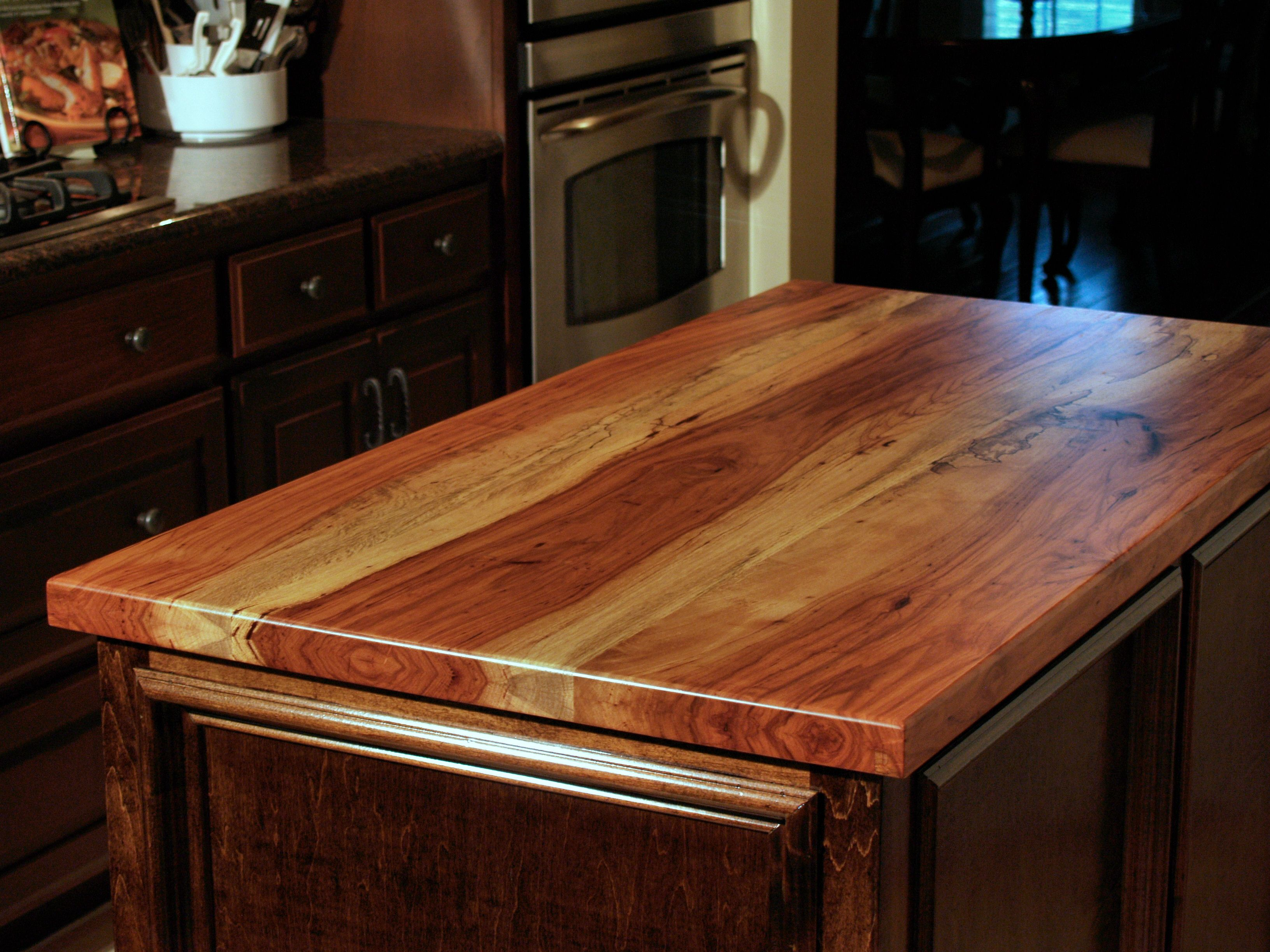 Tung Oil For Butcher Block Countertops Spalted Pecan Wood Countertop Photo Gallery By Devos