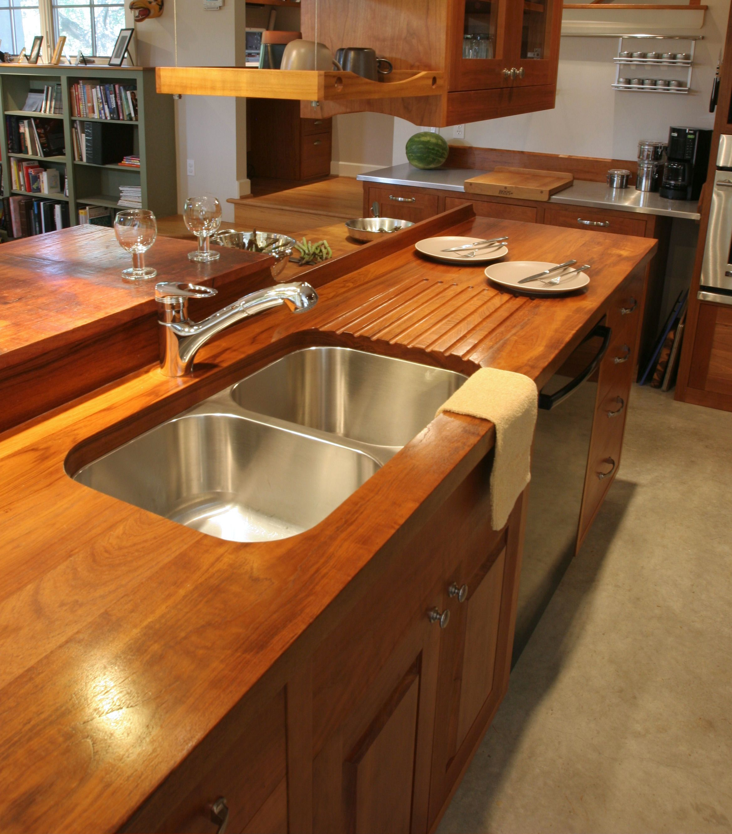 How To Waterproof Wood Countertop Sink Cutouts In Custom Wood Countertops