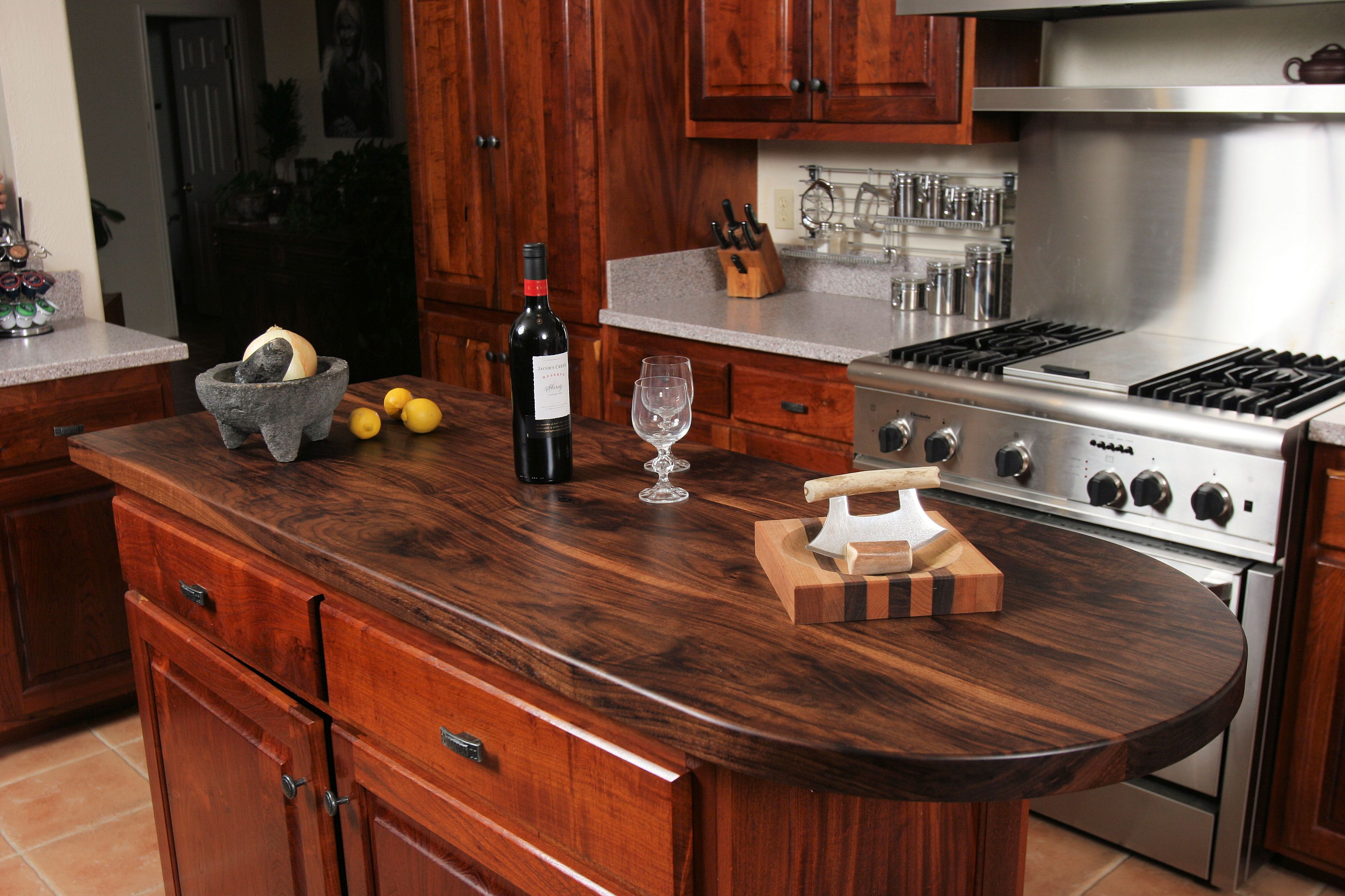 How To Waterproof Wood Countertop Custom Wood Countertop Options Finishes