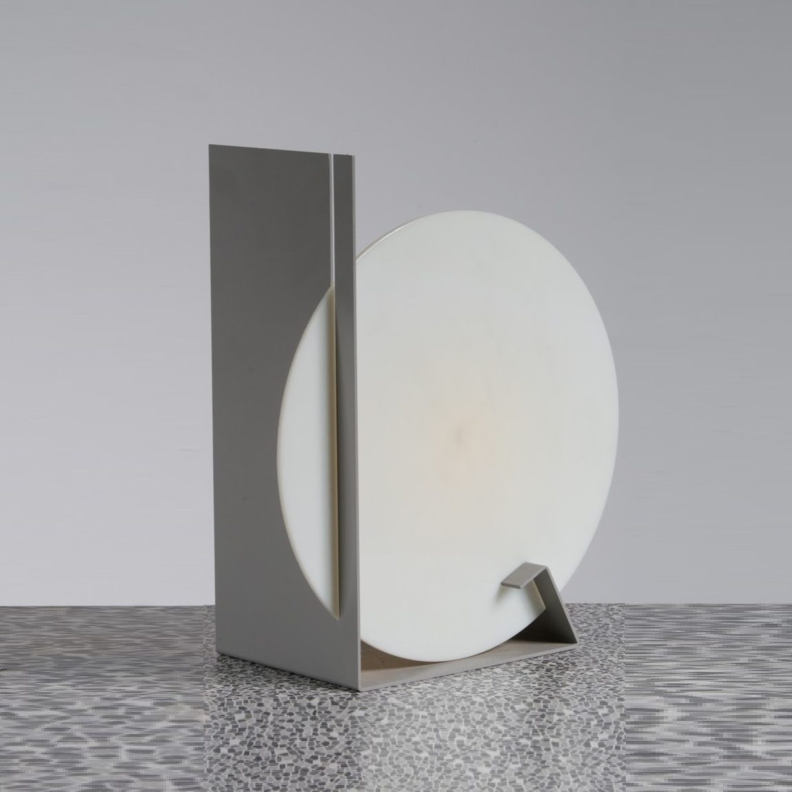 Design Lampen 1960s Dijkstra Lampen Desk Lamp White Perspex With Grey Metal