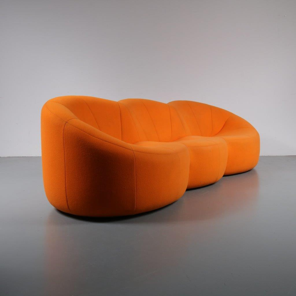 Pierre Paulin Sofa 1807 1 253 M22727 1970s Unique Pumpkin Sofa With Original