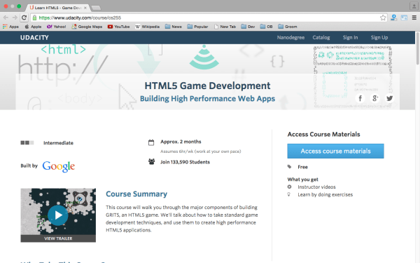 best online resources to learn about game development - udacity
