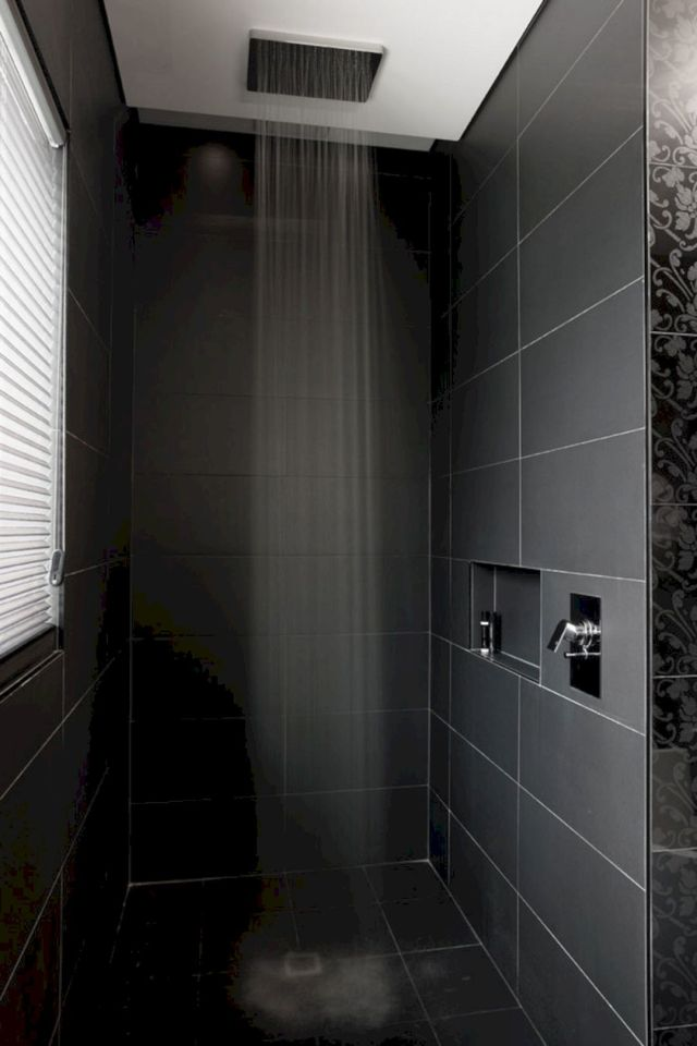 12 Awesome Black Shower Tile Ideas For Bathroom