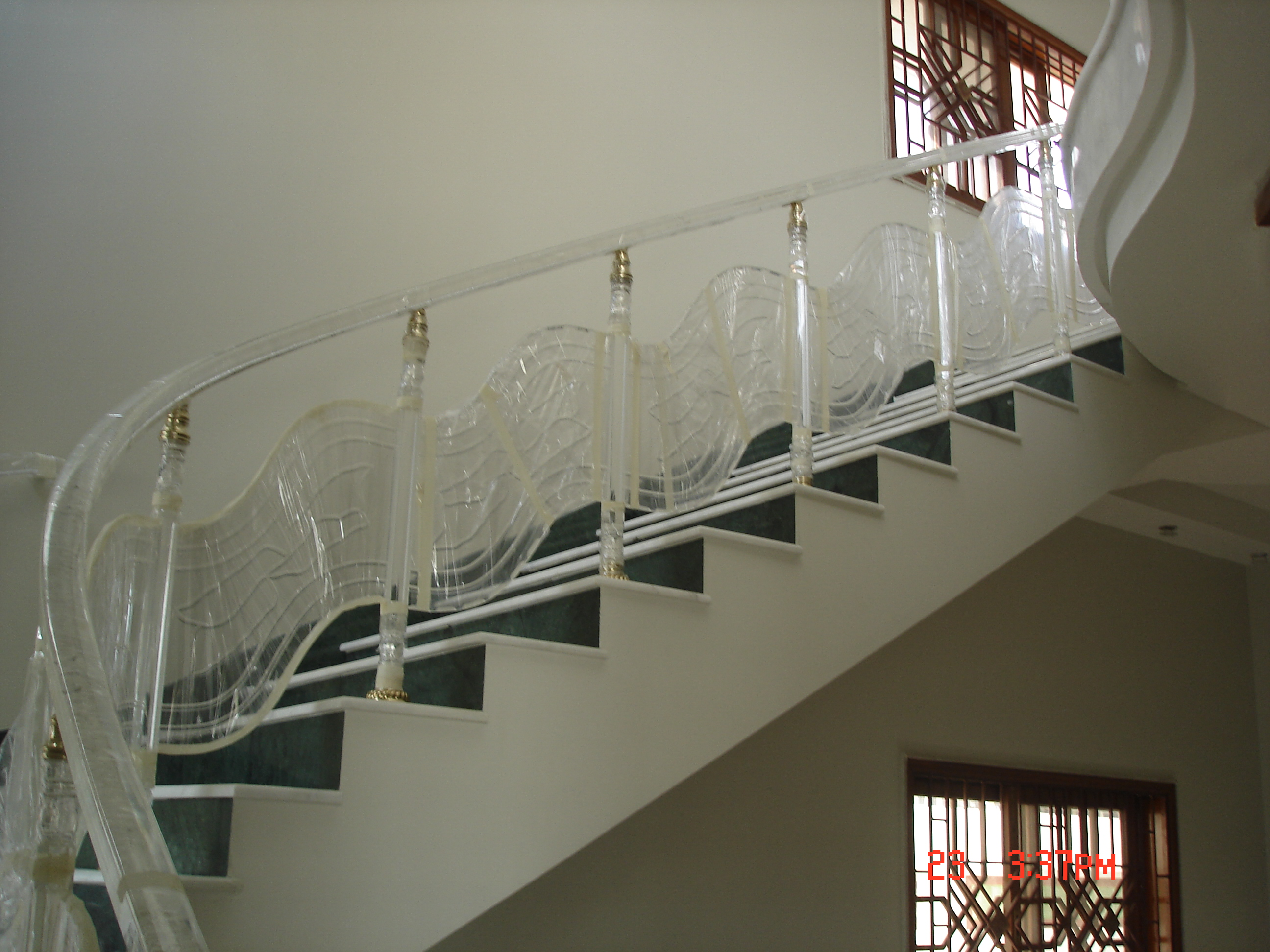 Balustrade Tangga Mr Samad Acrylic Stair Railing With Acrylic Panel 2