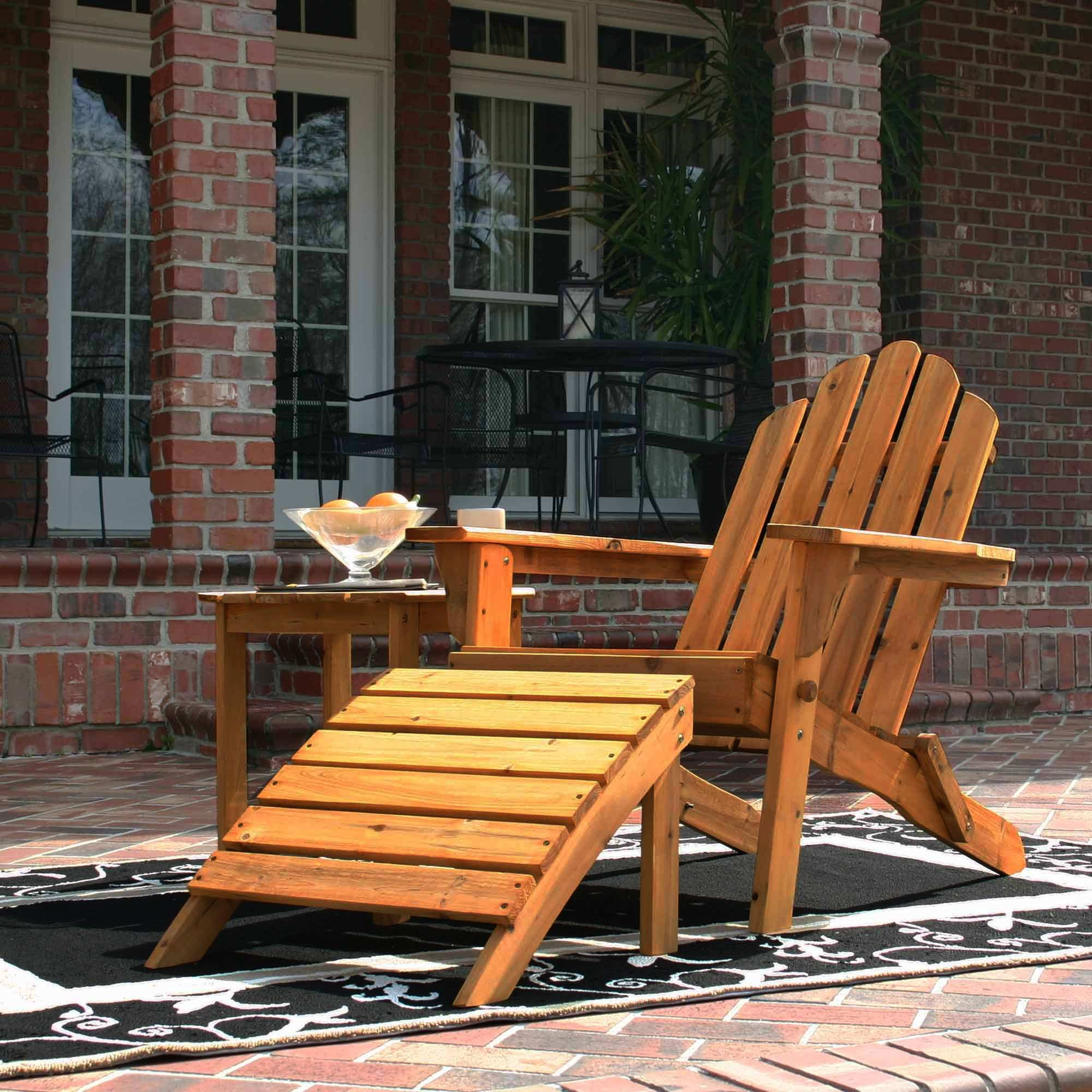 Folding Wooden Chairs Exclusive Folding Wood Adirondack Chair Natural Stain