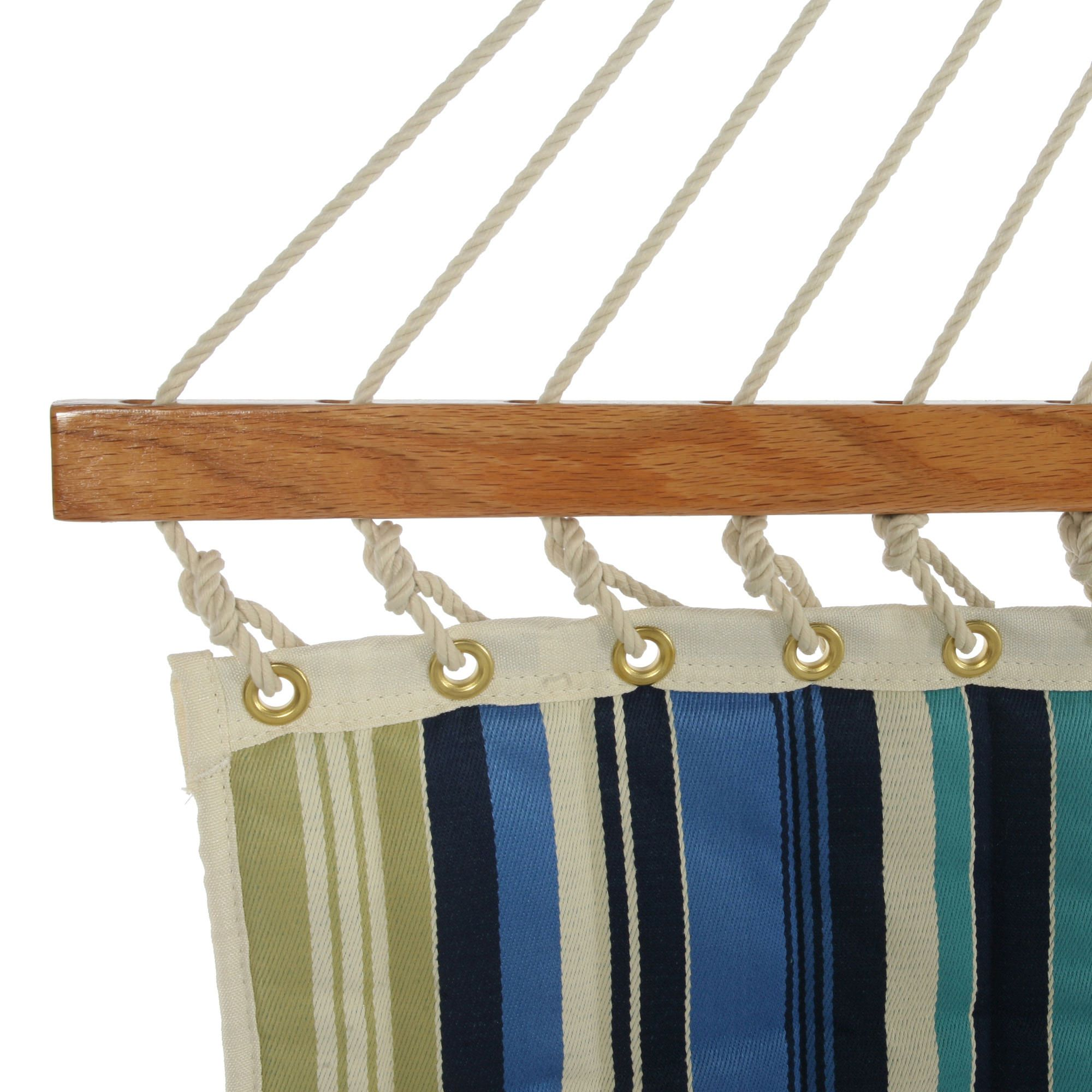 Quilted Fabric Beaches Stripe Large Quilted Fabric Hammock